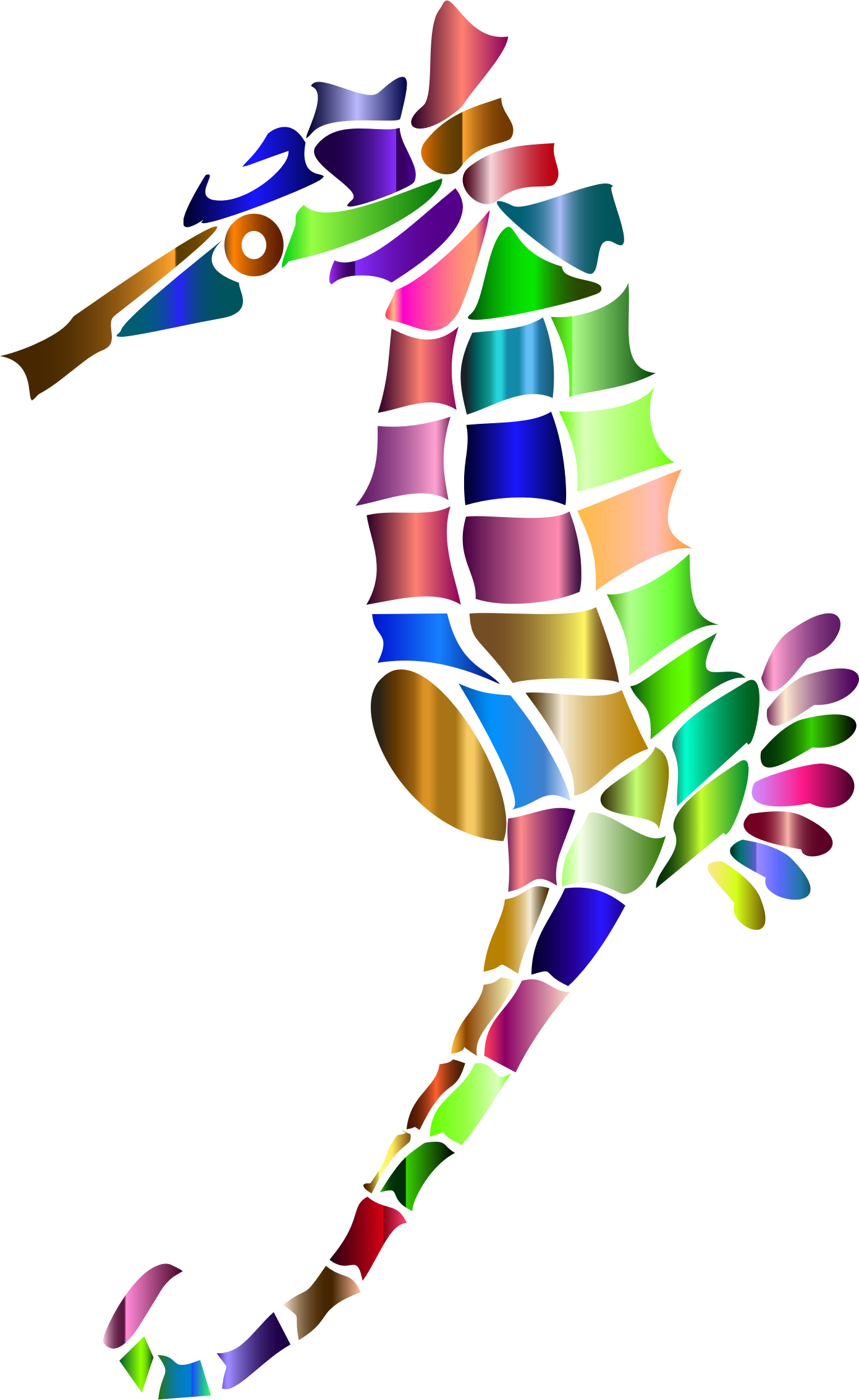 Prismatic Stylized Seahorse Silhouette 6 by GDJ