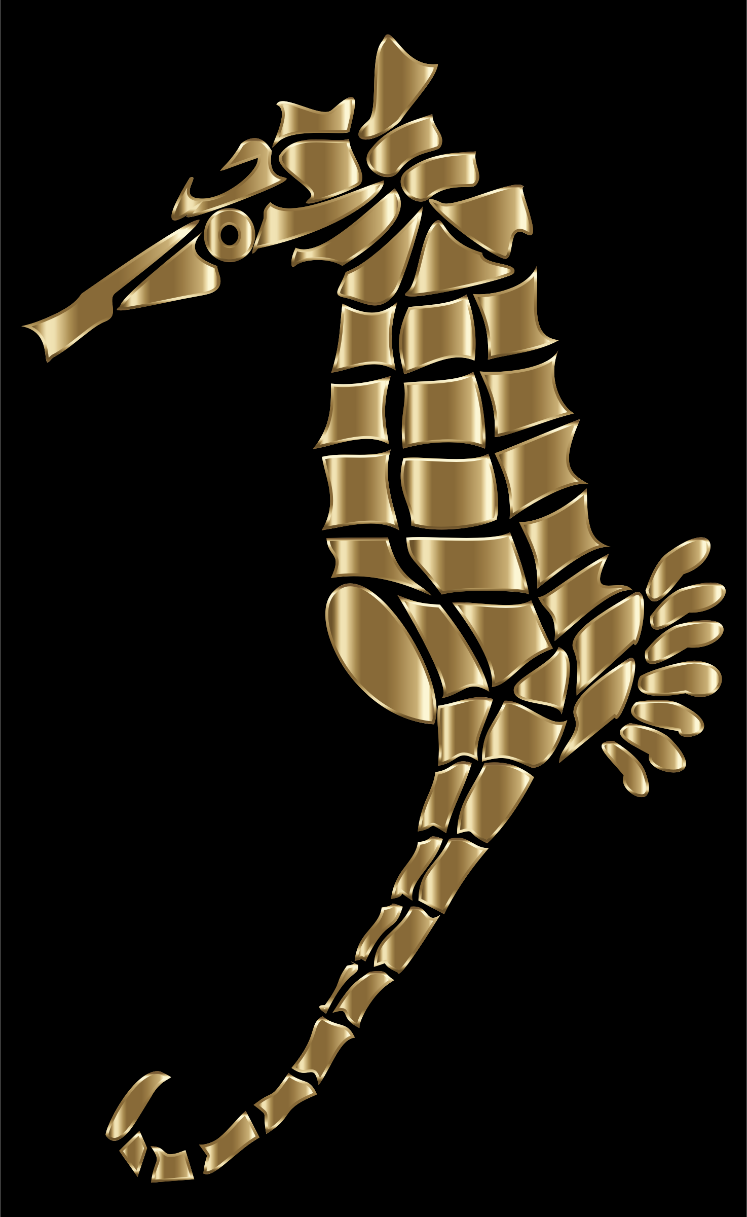 Polished Copper Stylized Seahorse Silhouette by GDJ