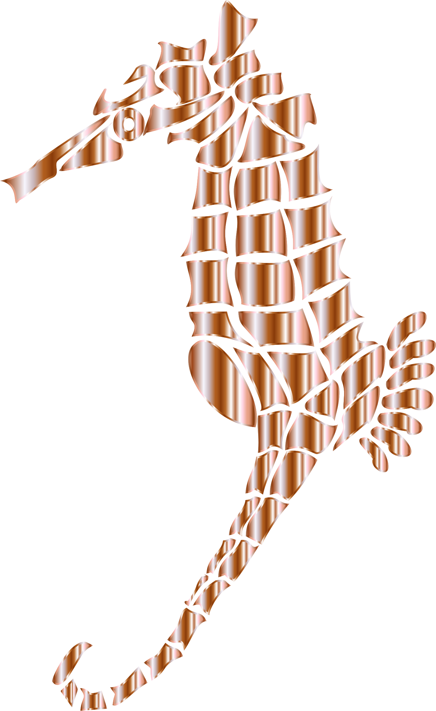 Mother Of Pearl Stylized Seahorse Silhouette No Background by GDJ