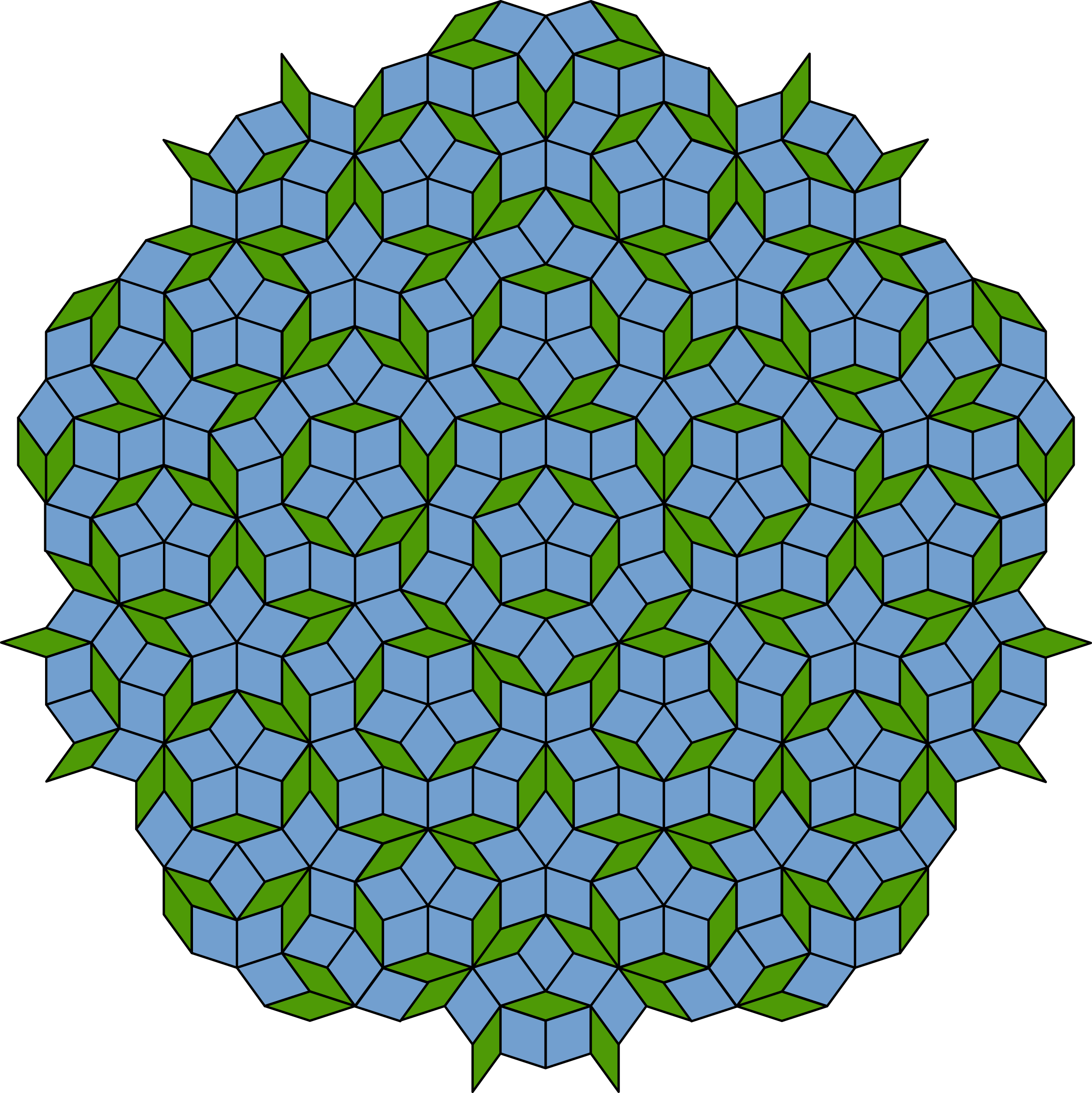 Penrose tiling (Rhombi) by Anonymous