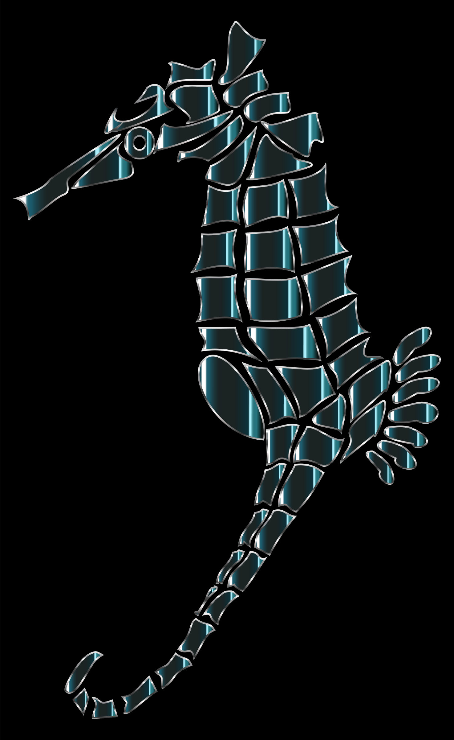 Bioluminescent Stylized Seahorse Silhouette by GDJ