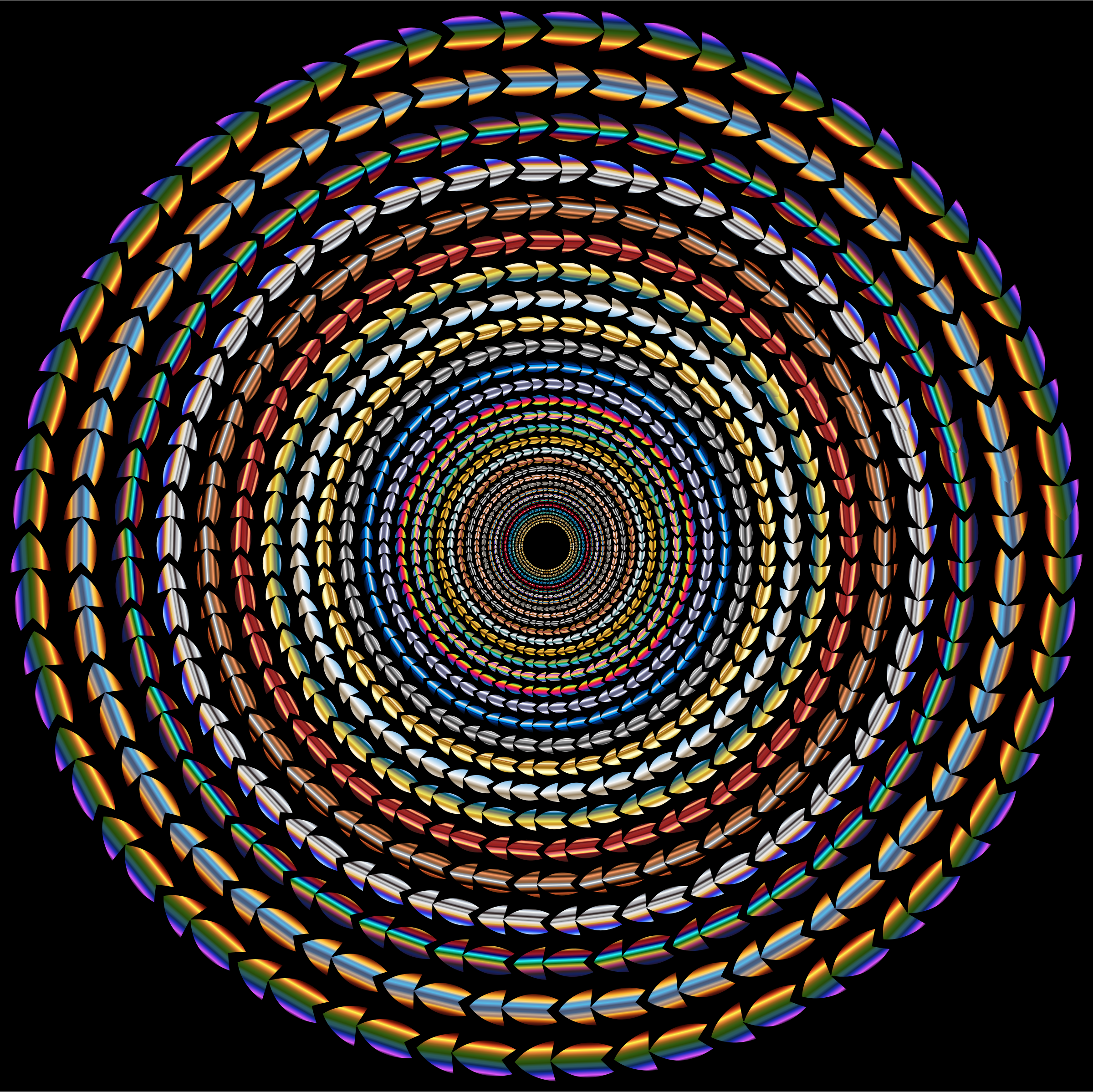 Polychromatic Colorful Direction Circle Vortex by GDJ