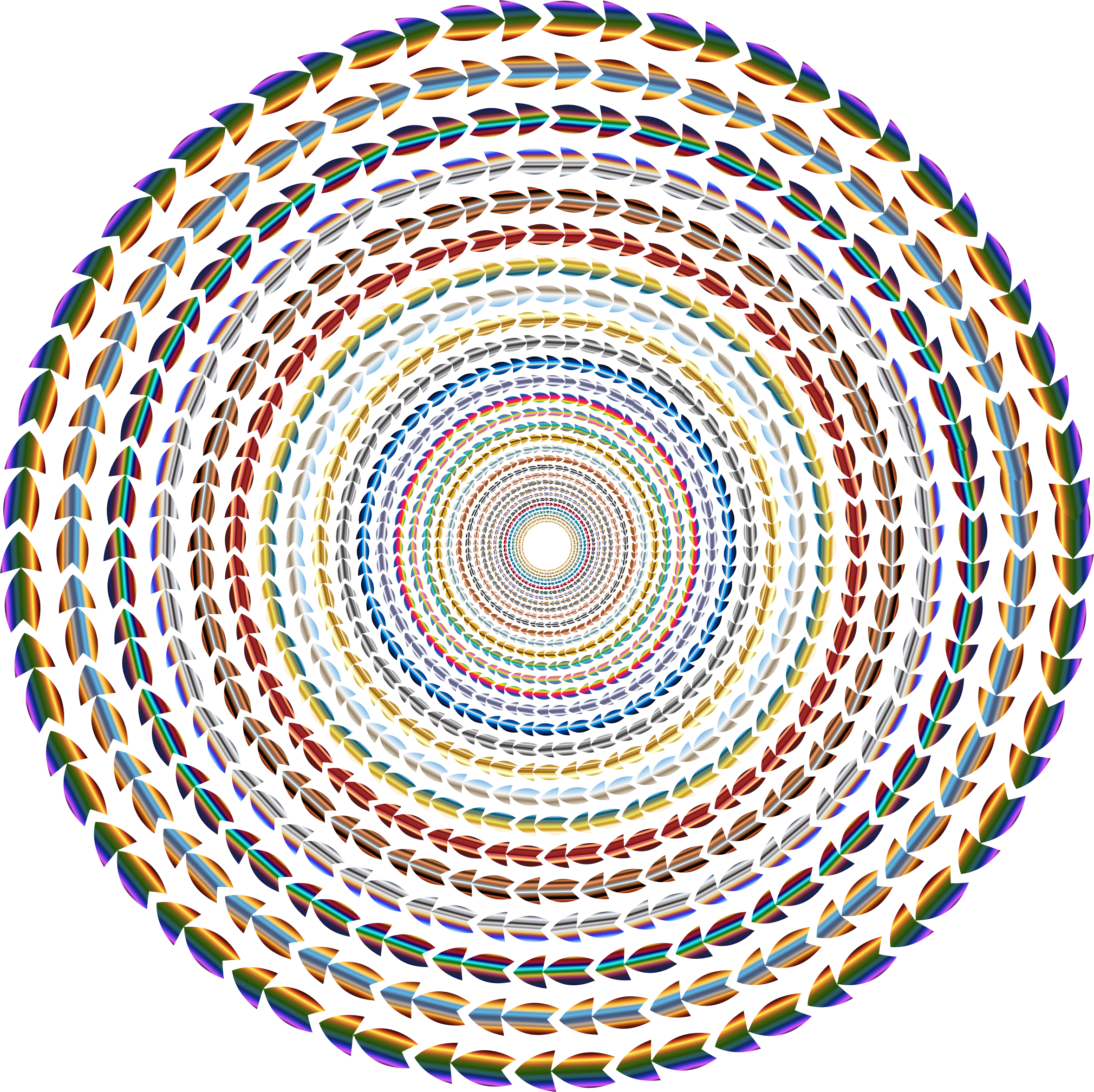 Polychromatic Colorful Direction Circle Vortex No Background by GDJ