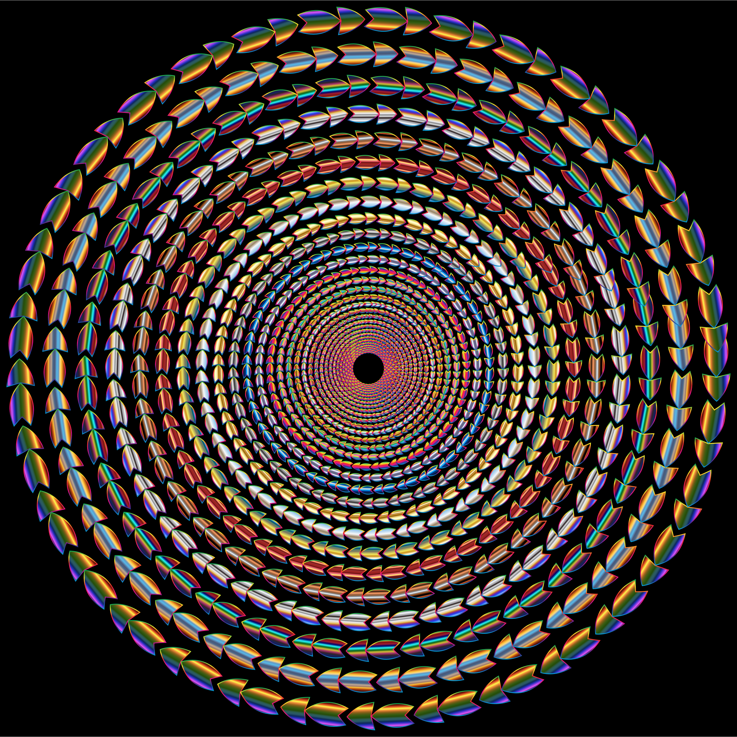 Polychromatic Colorful Direction Circle Vortex Variation 2 by GDJ