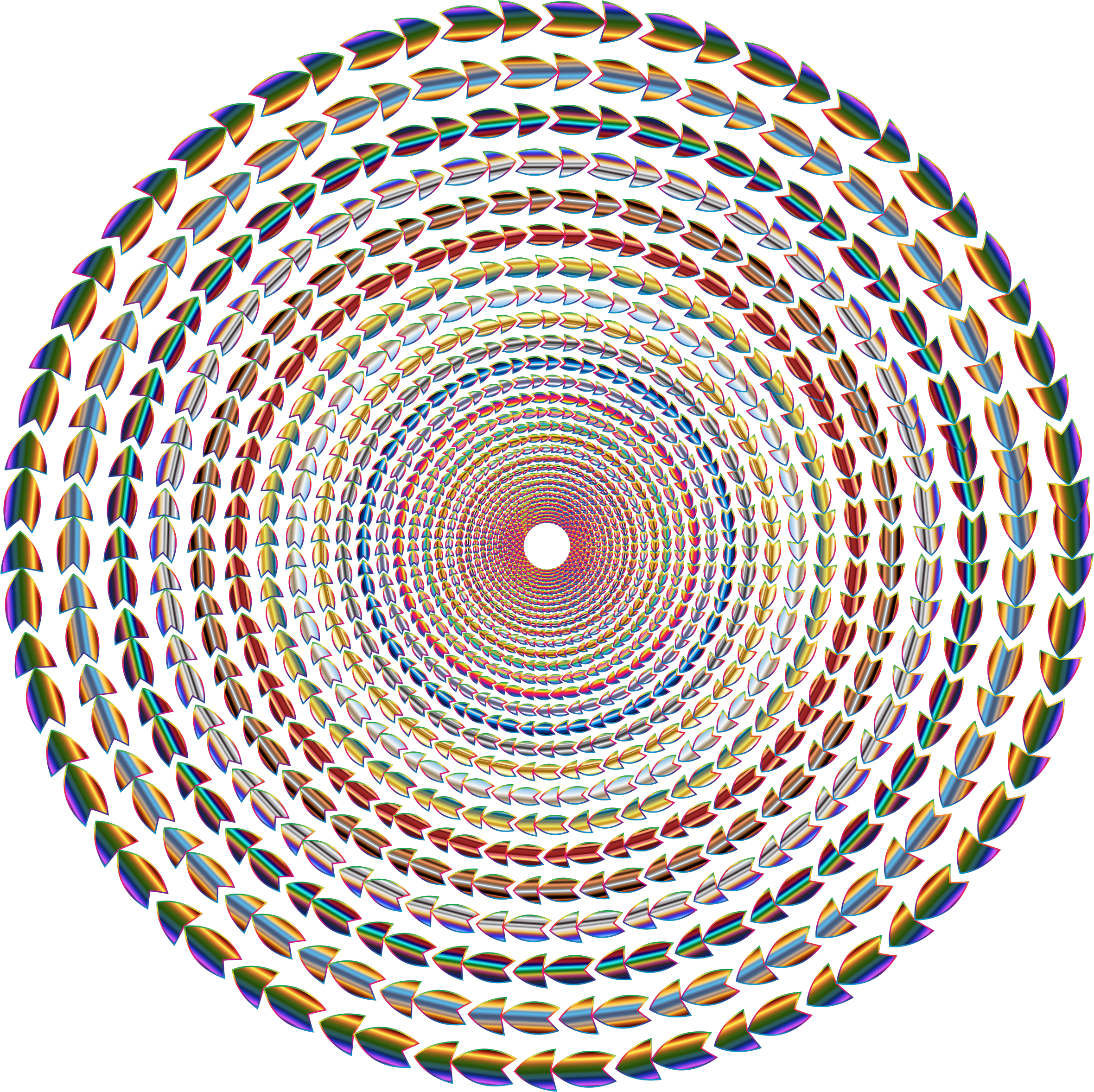 Polychromatic Colorful Direction Circle Vortex Variation 2 No Background by GDJ
