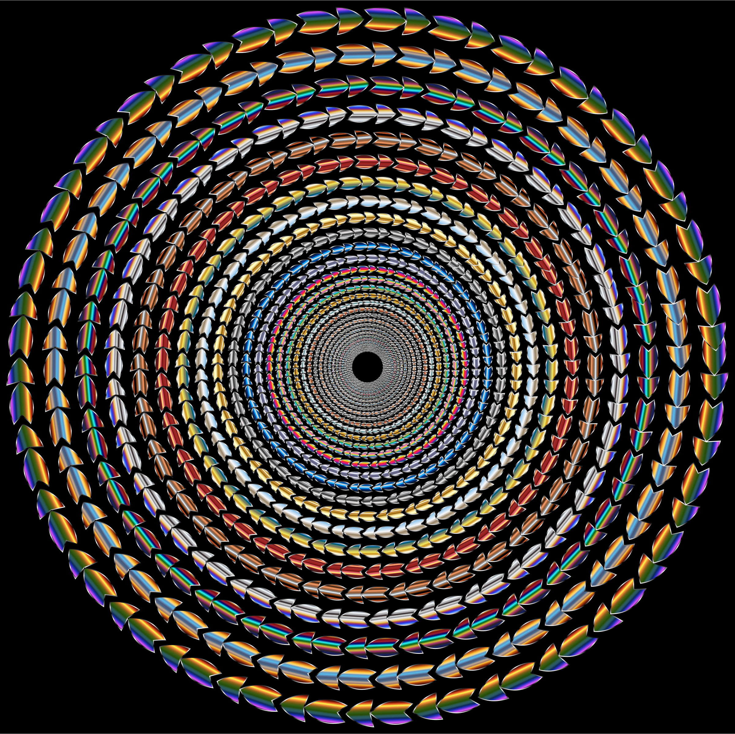 Polychromatic Colorful Direction Circle Vortex Variation 3 by GDJ