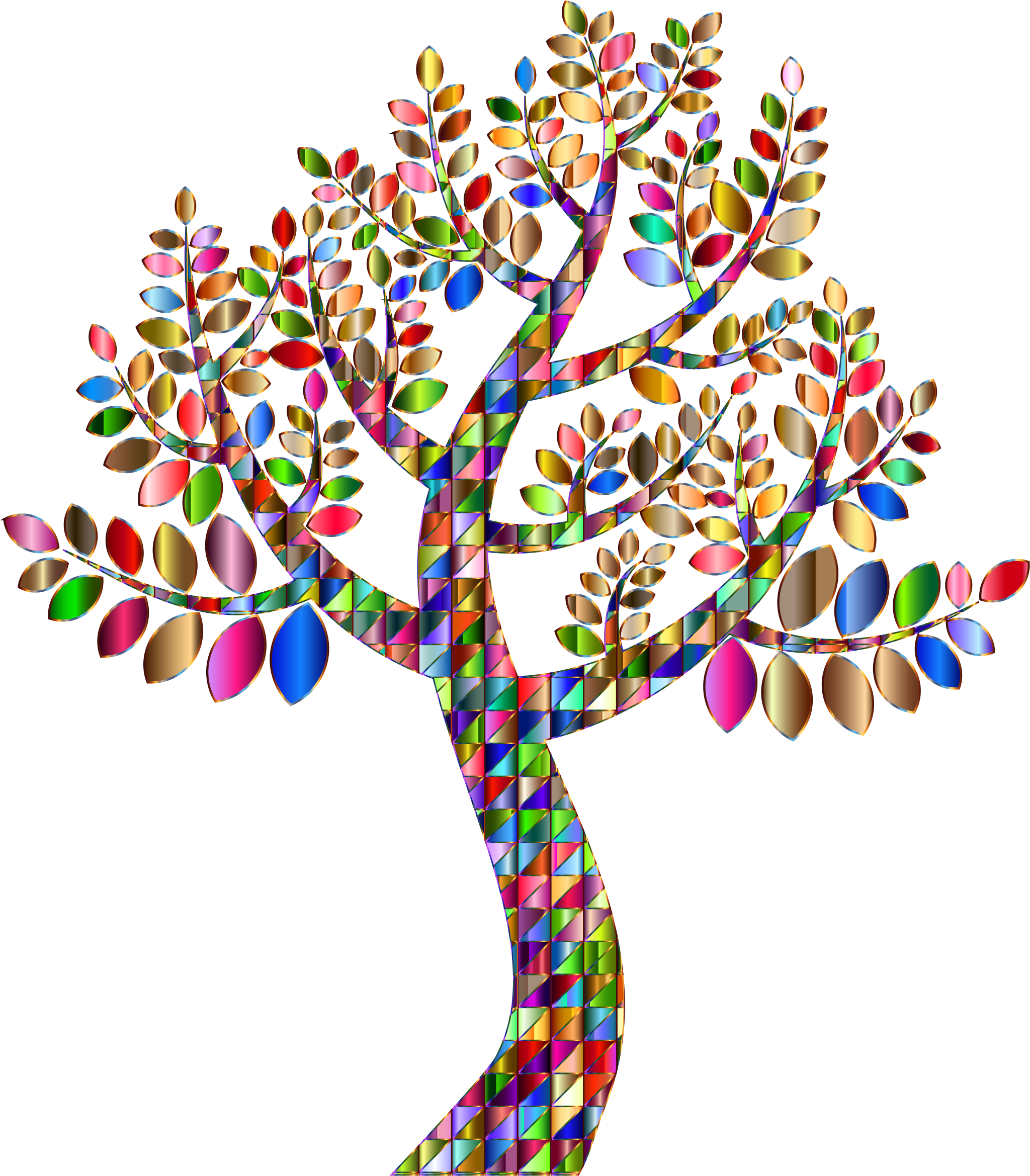 Clipart Complex Prismatic Tree No Background
