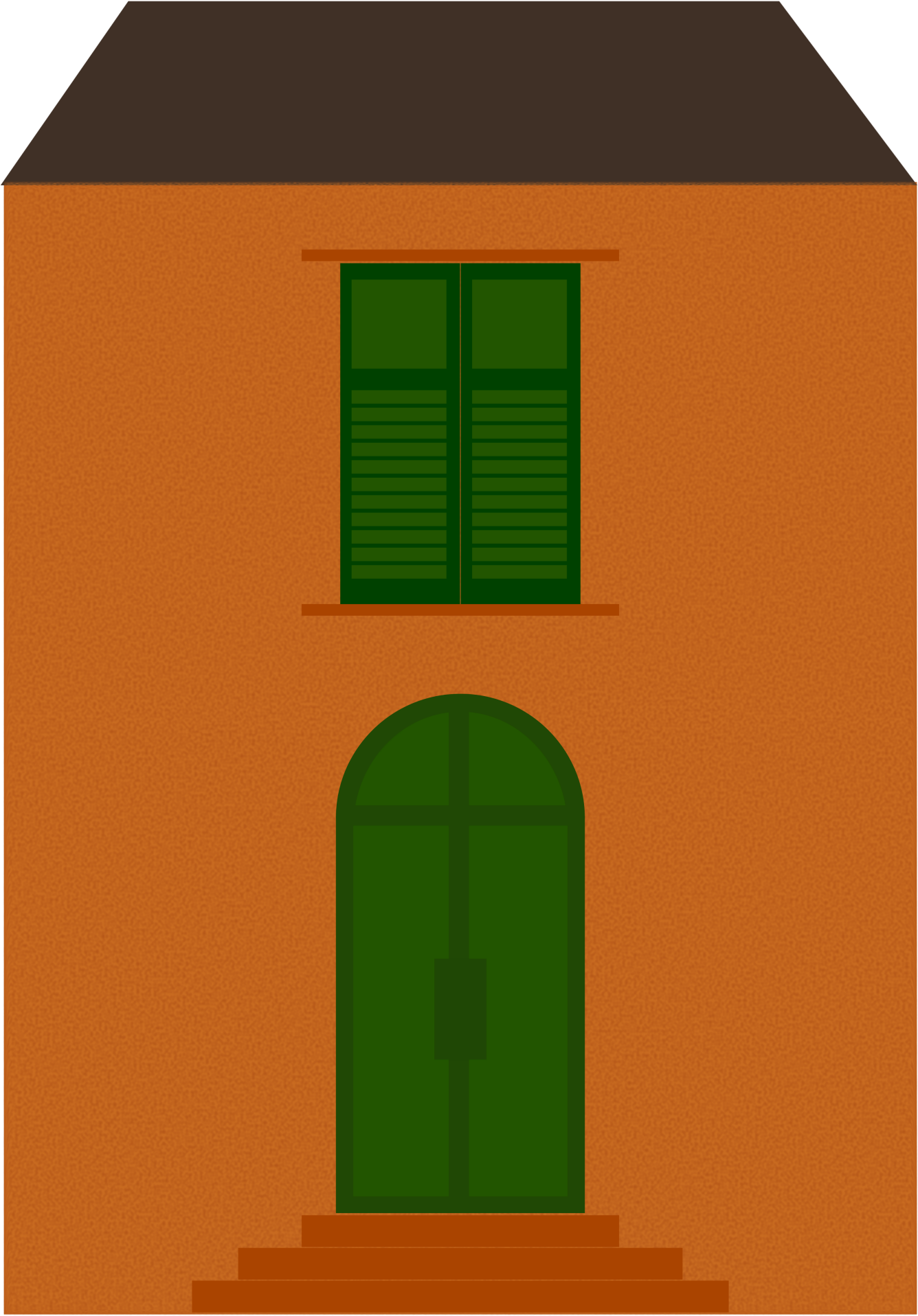 Home- inspired by Italian house facades. by oldifluff