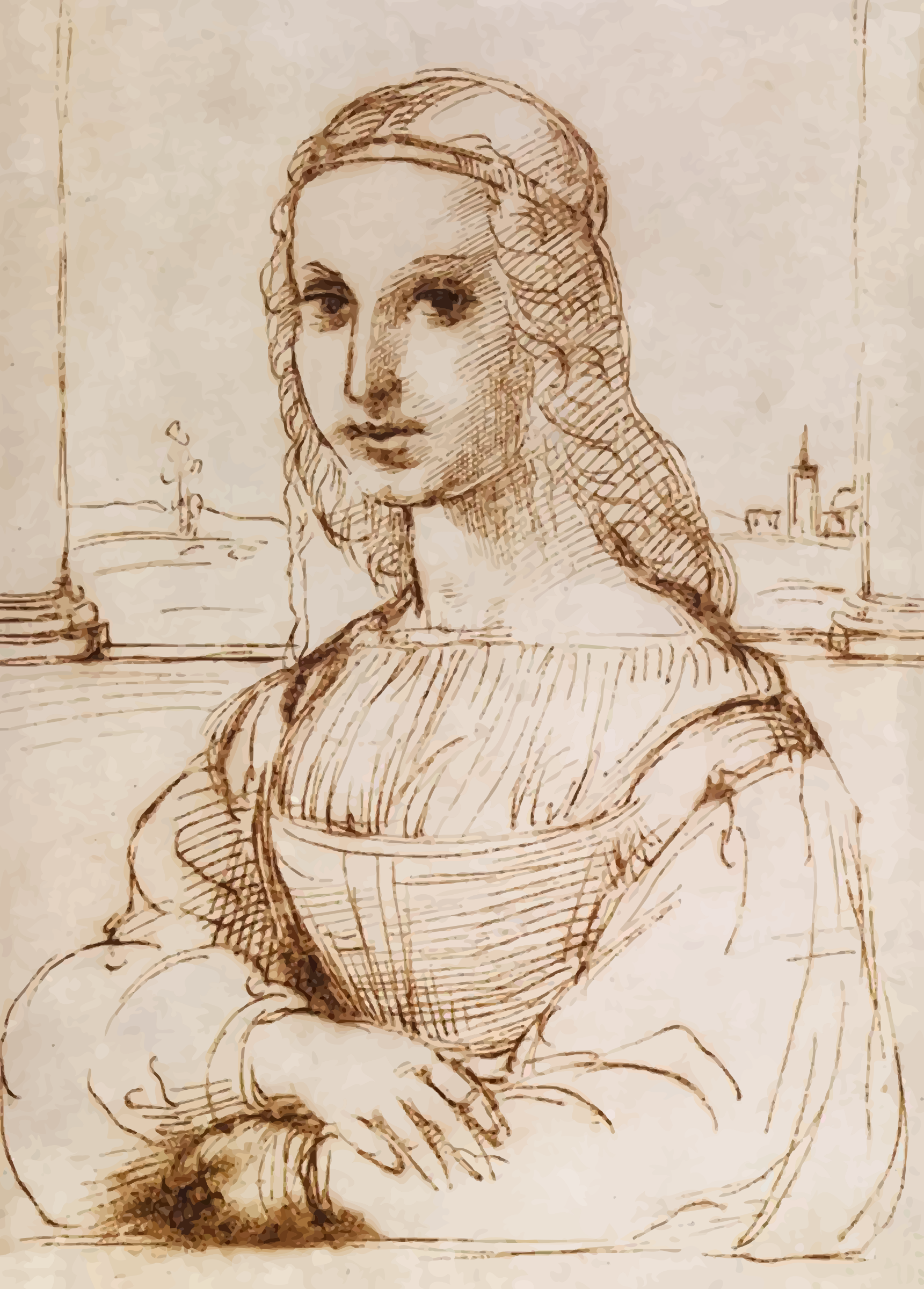 Colour trace of Raphael's sketch. by Firkin