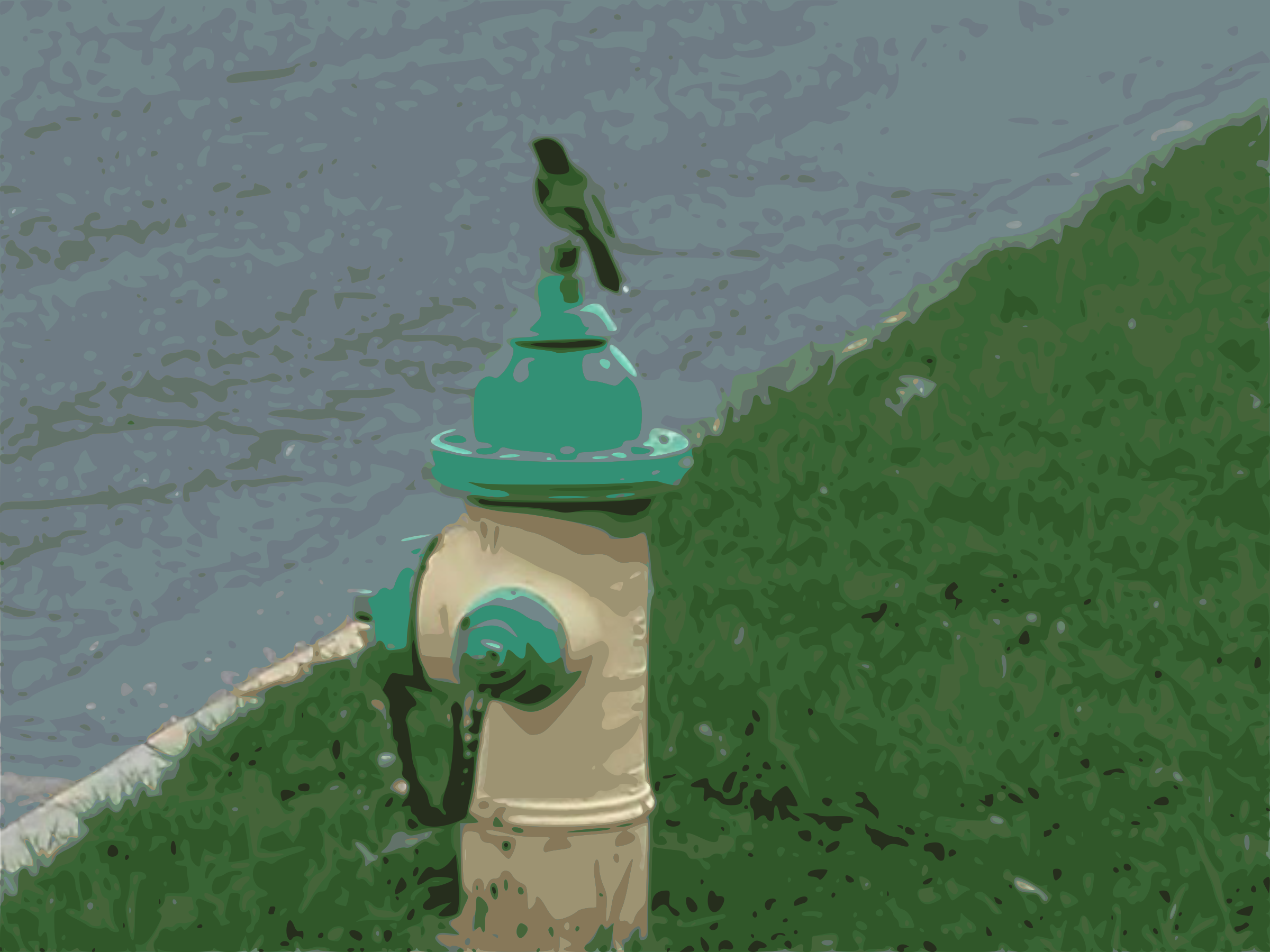 Bird on Fire Hydrant by EdR