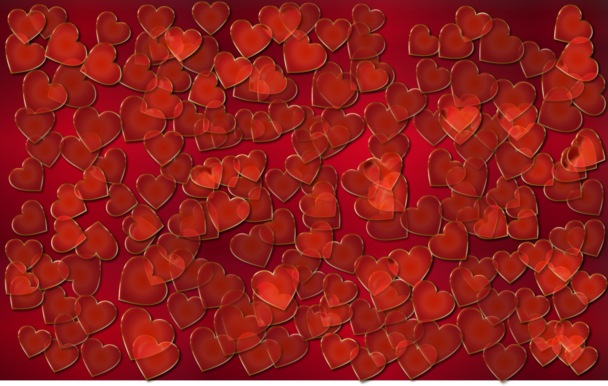 Translucent Hearts Background by GDJ