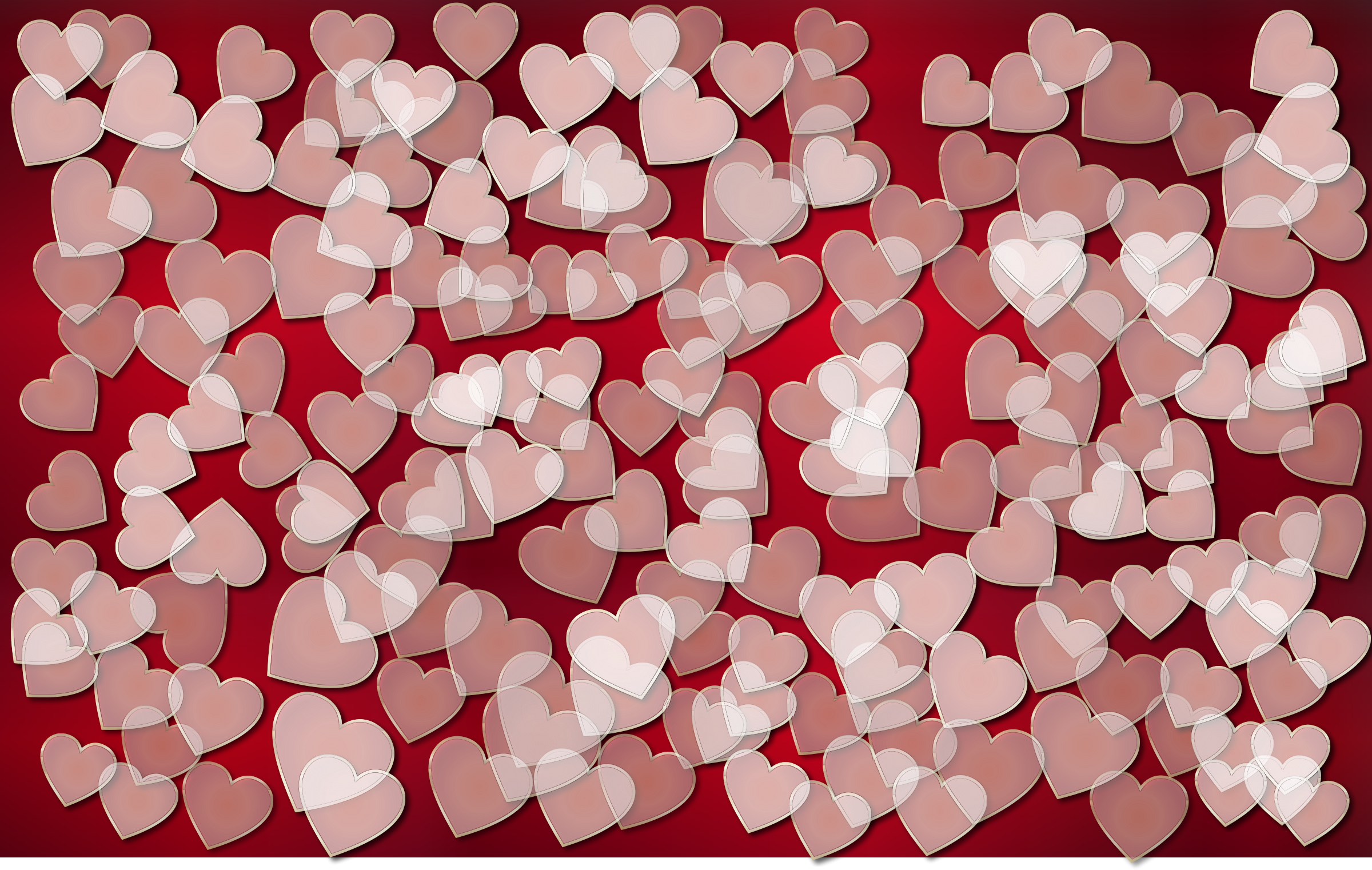 Translucent Hearts Background 3 by GDJ