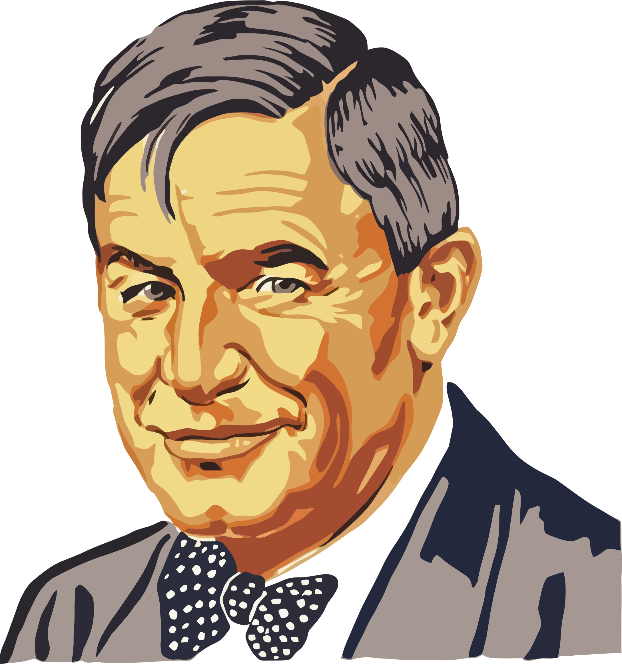 Vintage Will Rogers Portrait by GDJ