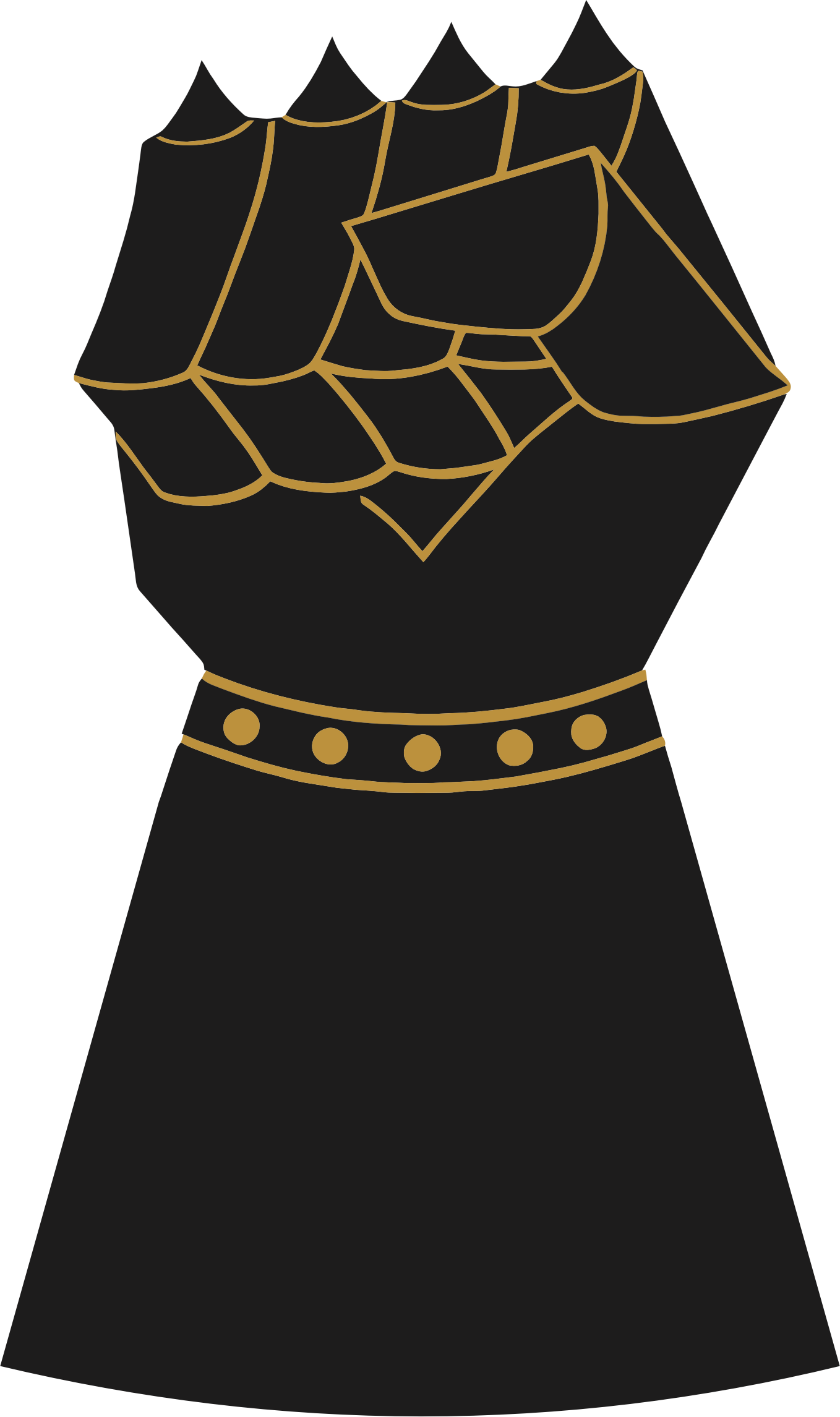 Vintage Gauntlet Fist by GDJ