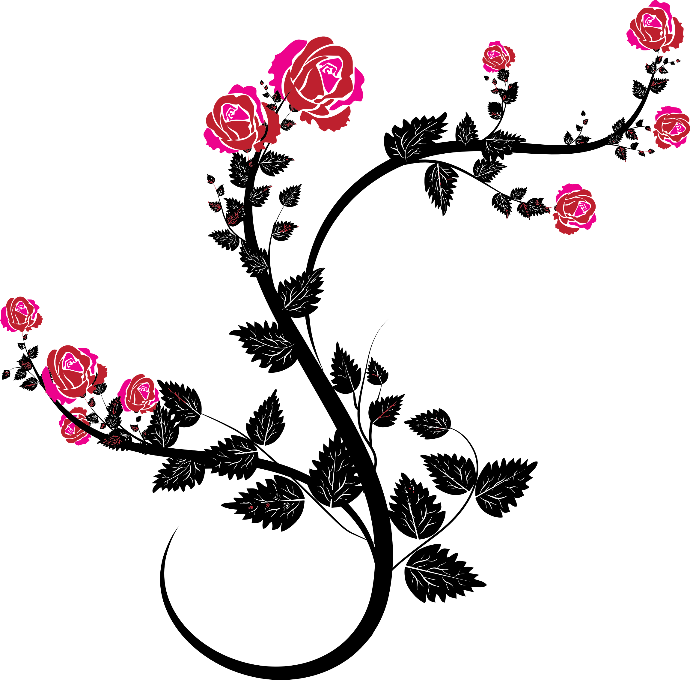 Clipart - Rose Floral Flourish