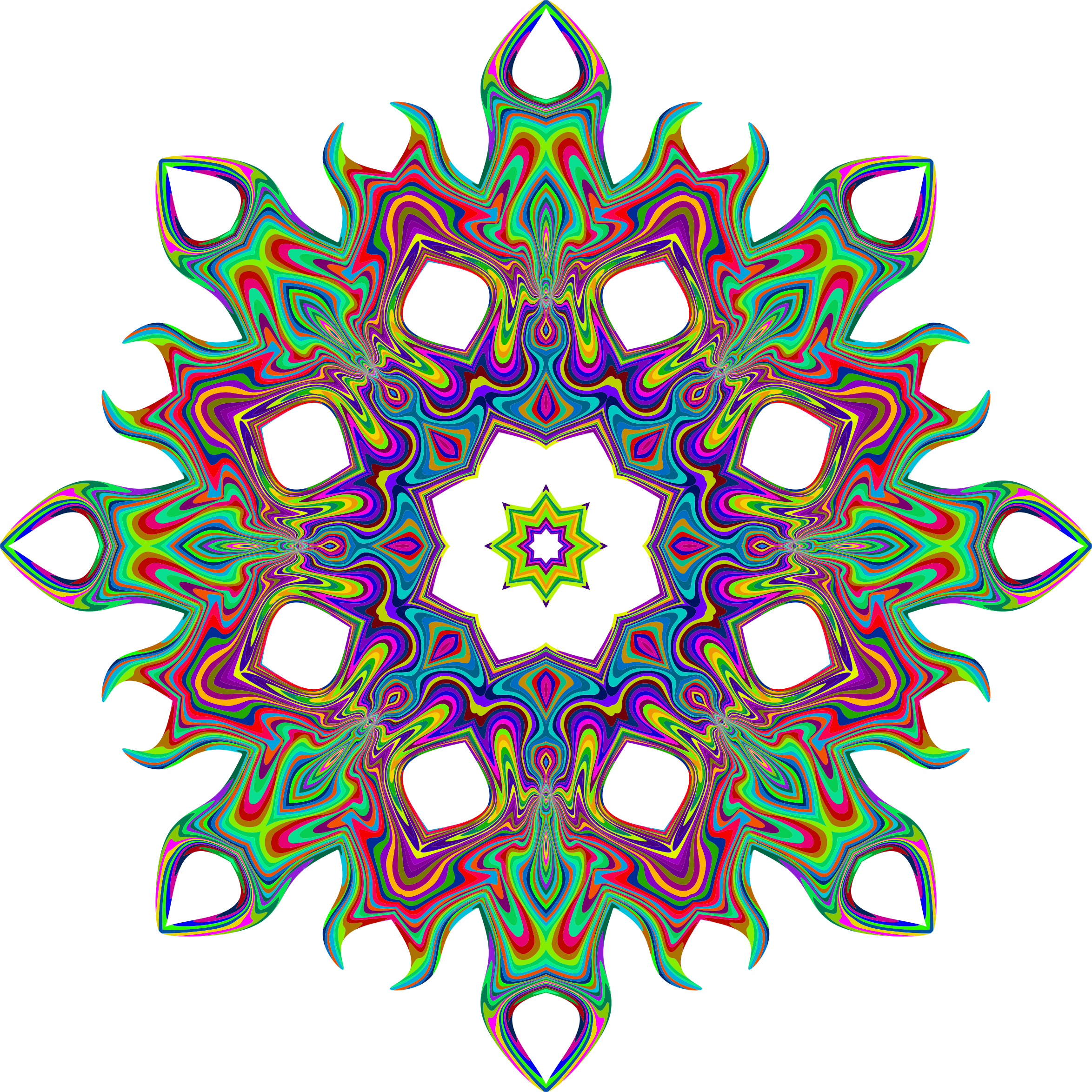 Psychedelic Geometric Star 2 by GDJ