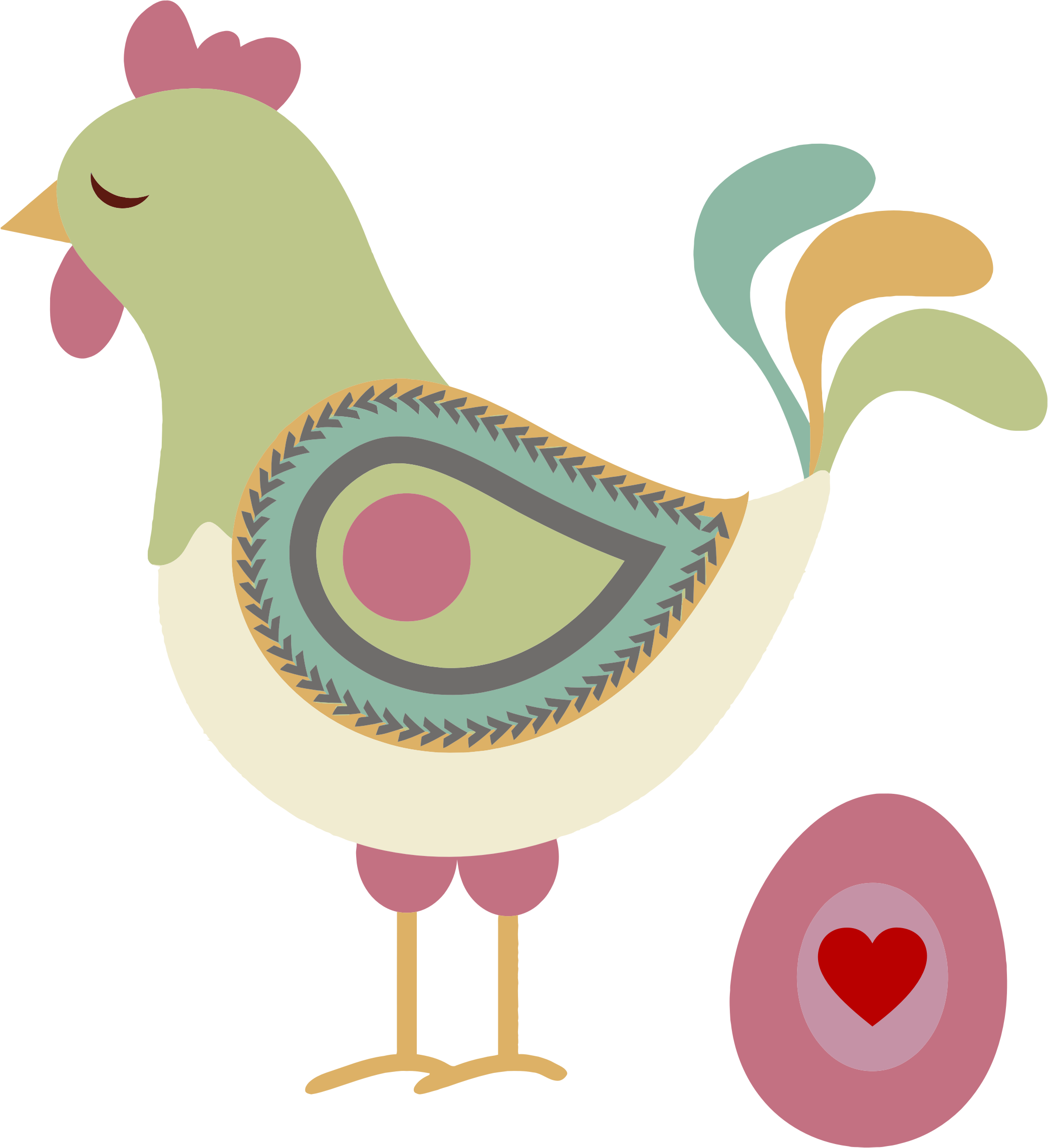 Clipart - Abstract Chicken And Egg