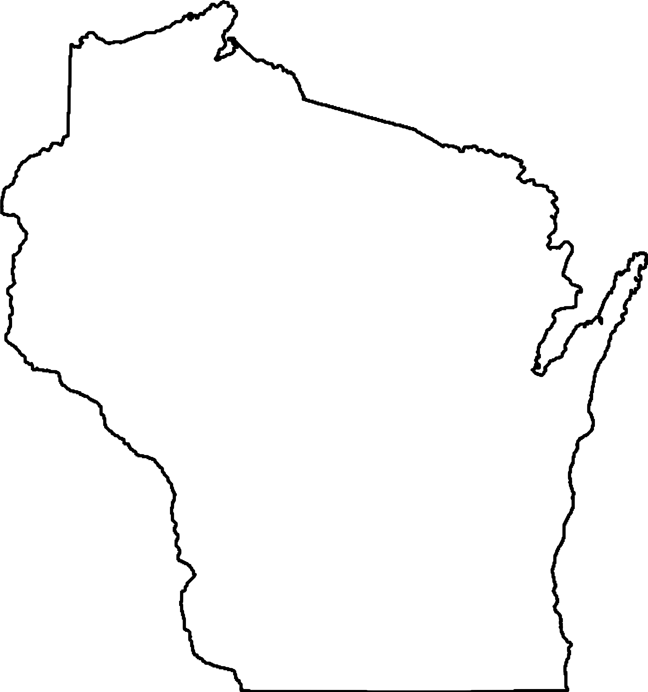 Wisconsin State Outline Art 4aWZVZj