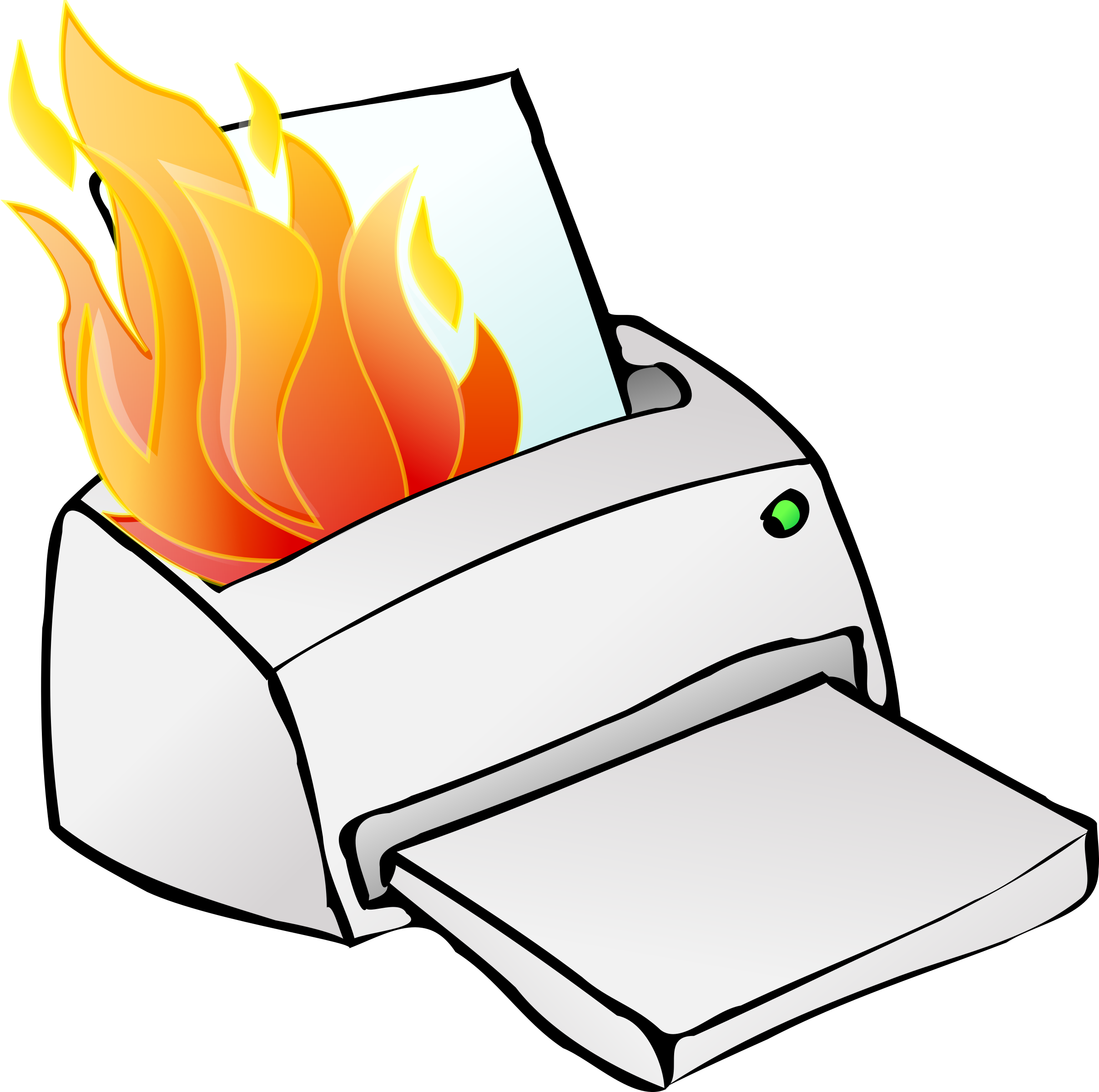 Printer on fire by Simon