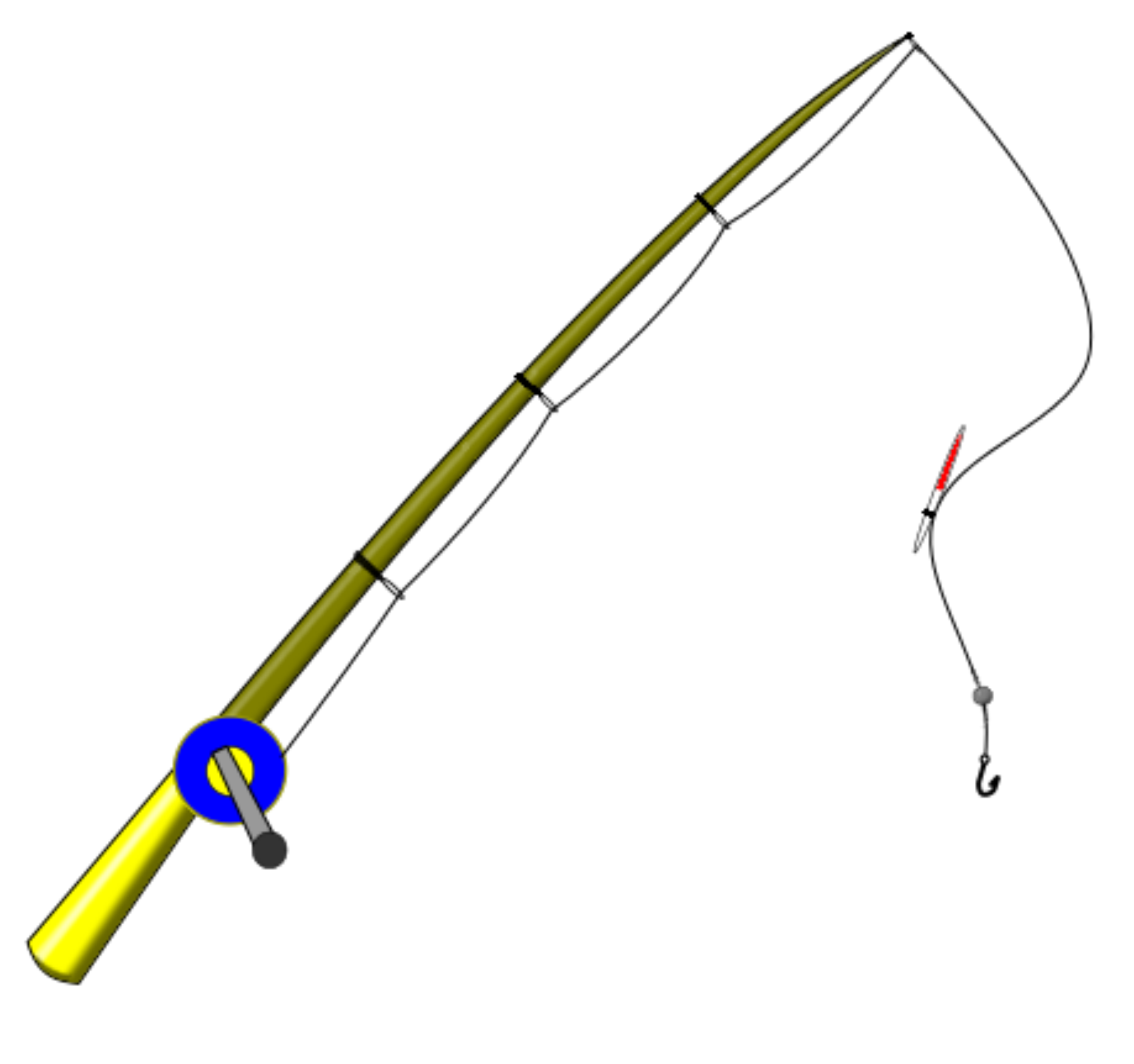 clipart fishing rod