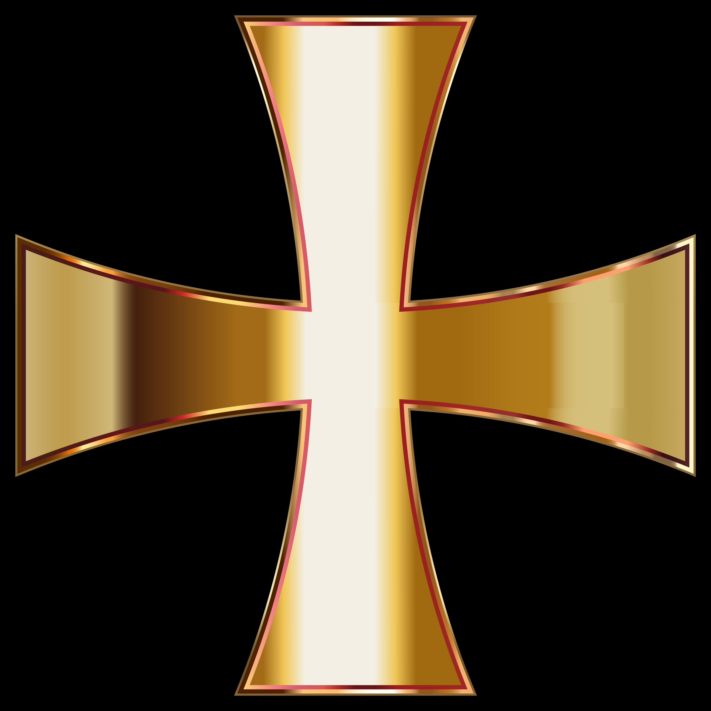 Gold Maltese Cross by GDJ