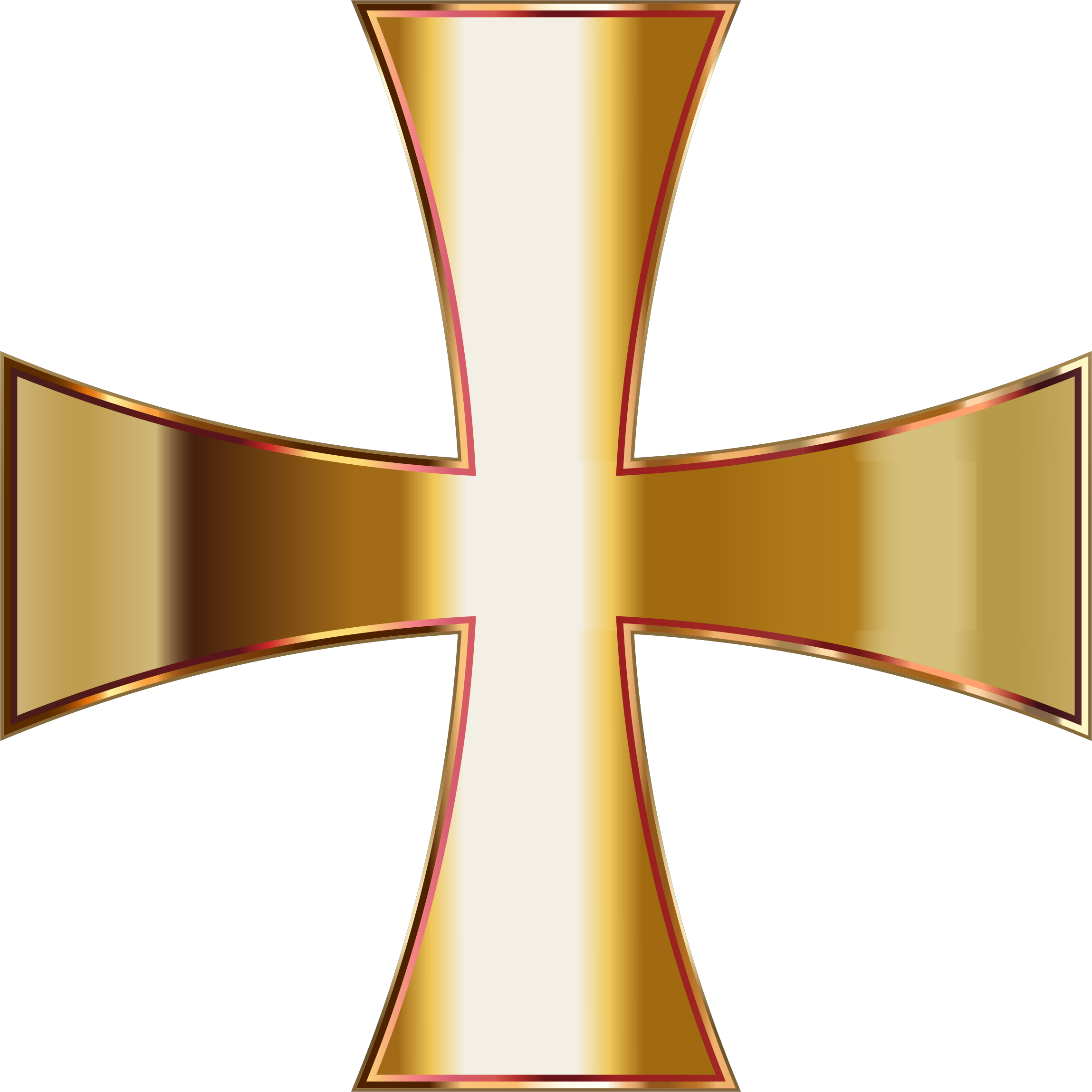 Gold Maltese Cross No Background by GDJ
