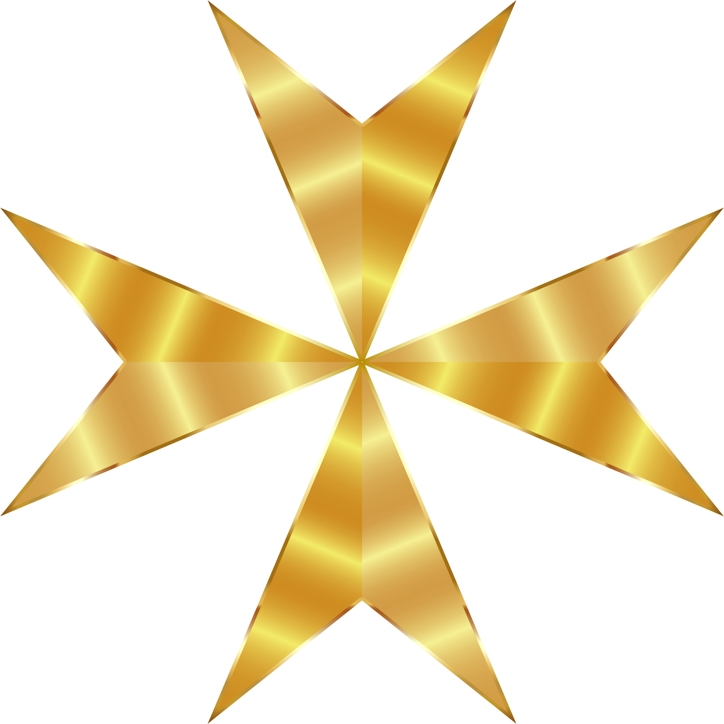 Clipart - Gold Maltese Cross Mark II No Background