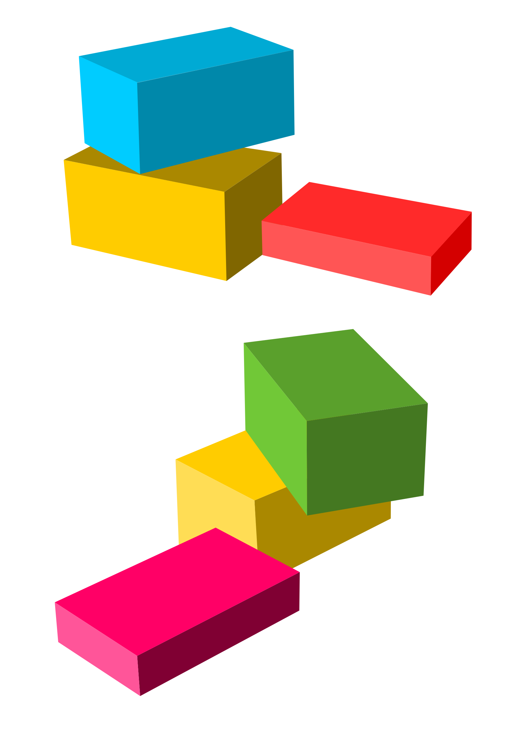 Colored boxes by Almeidah