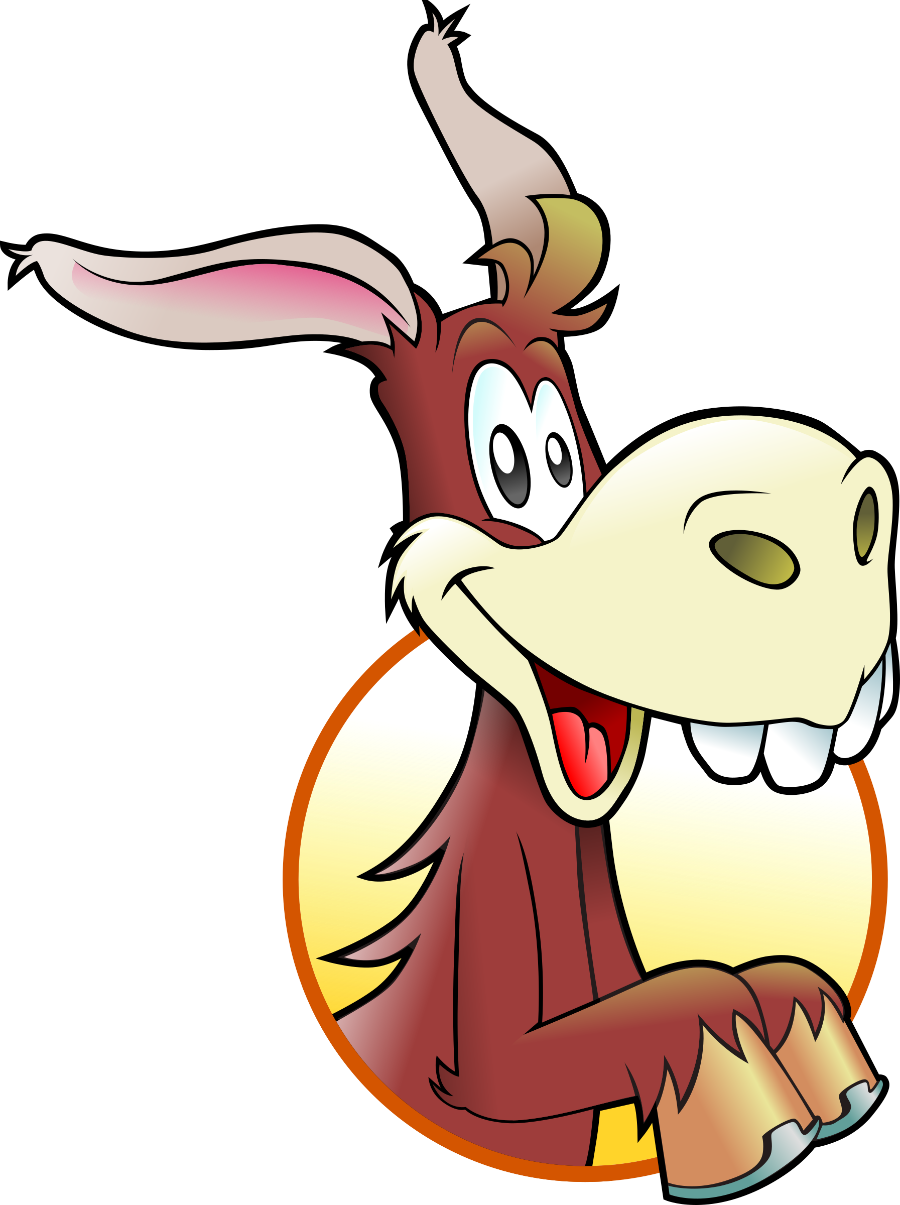 Happy Donkey by Schade