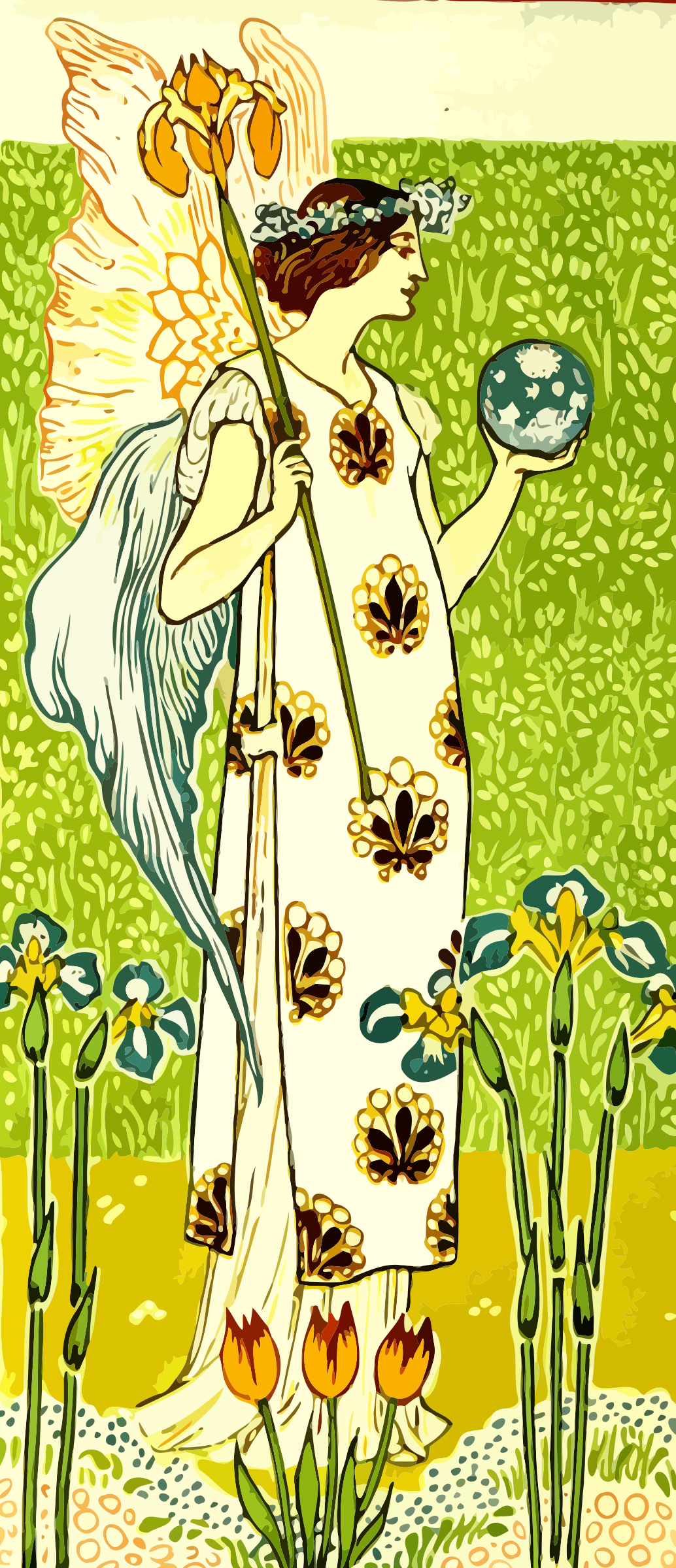Floral angel by Firkin