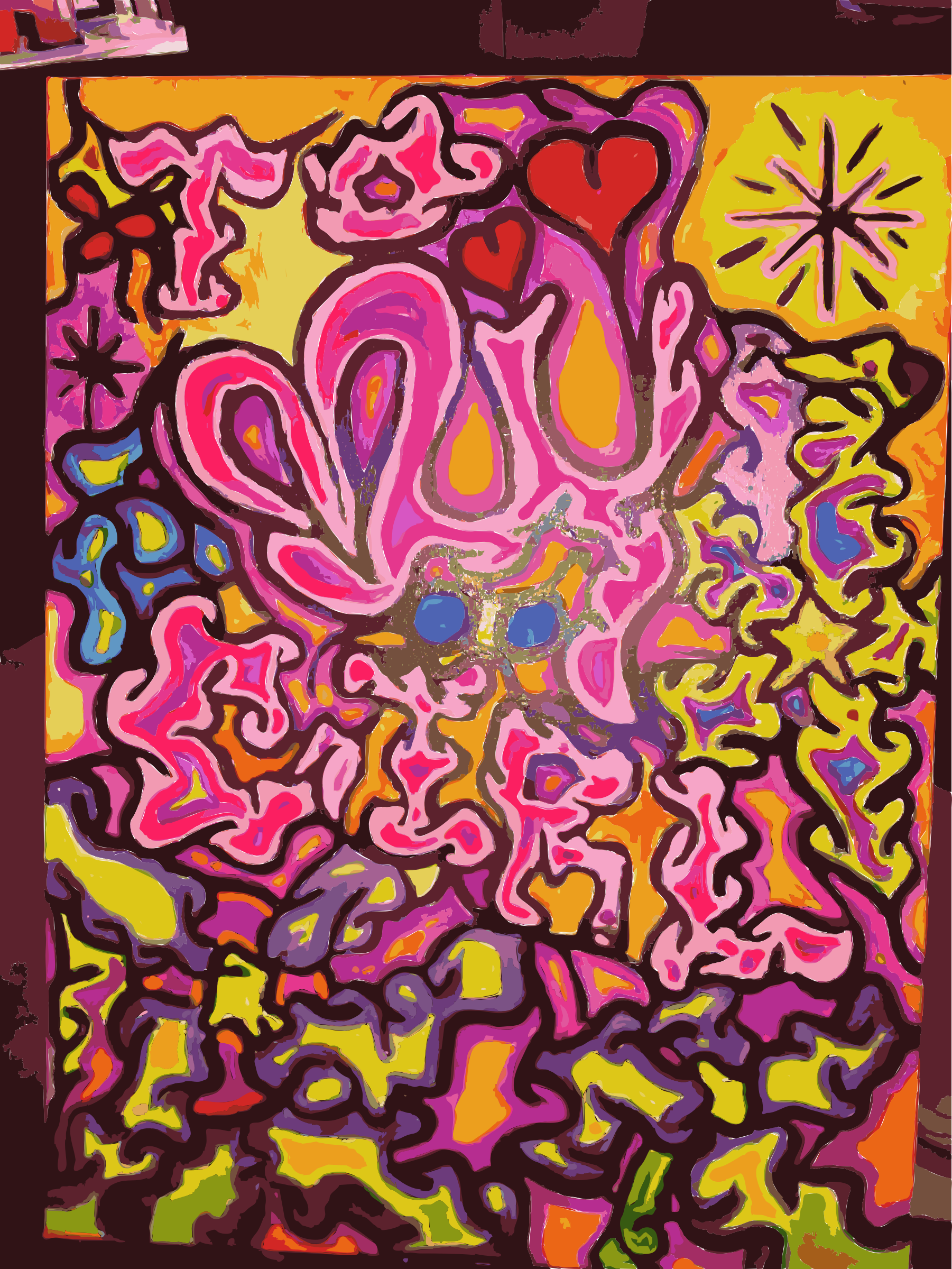 Funky Heart Painting by leightonjim2