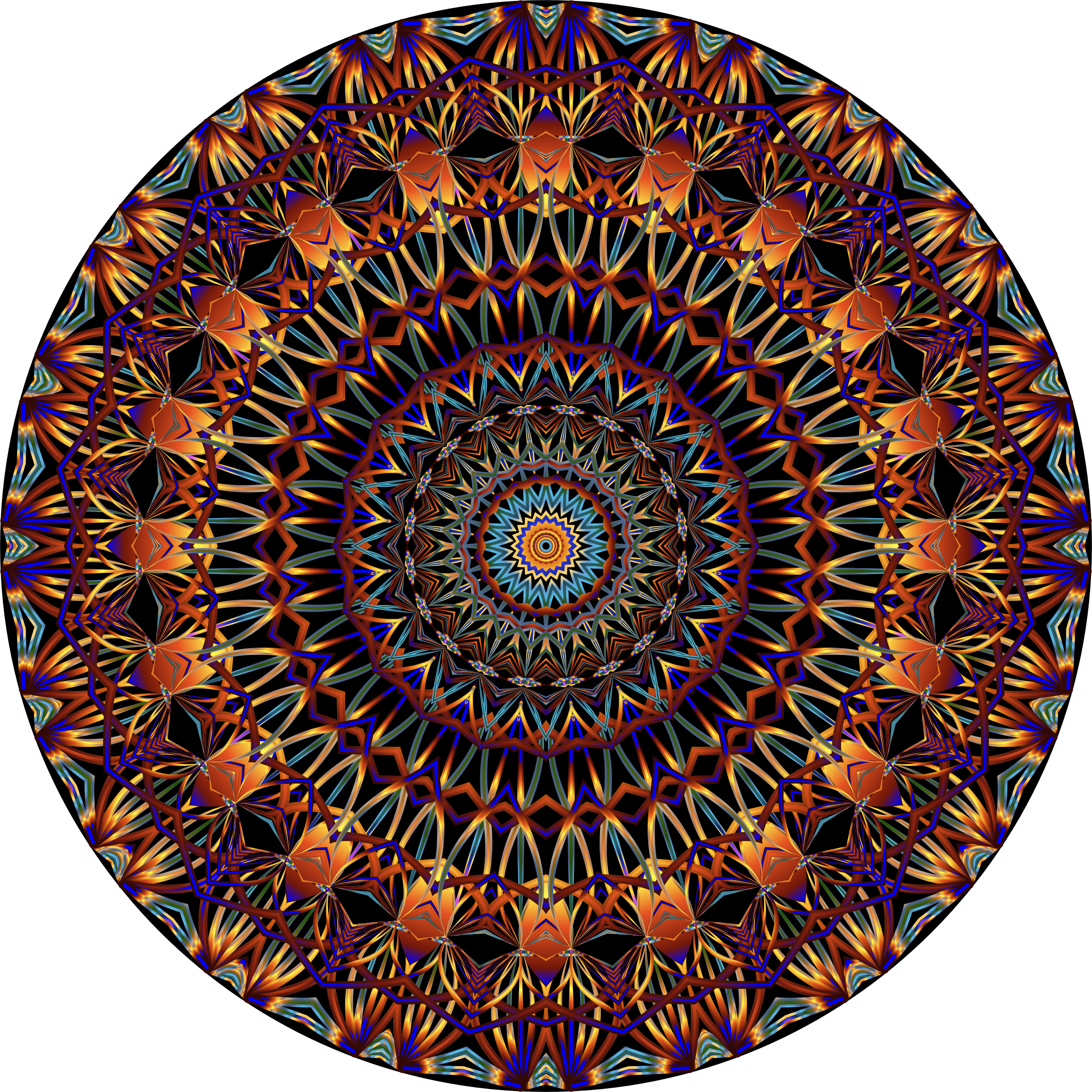Line Drawing Mandala : Clipart prismatic mandala line art