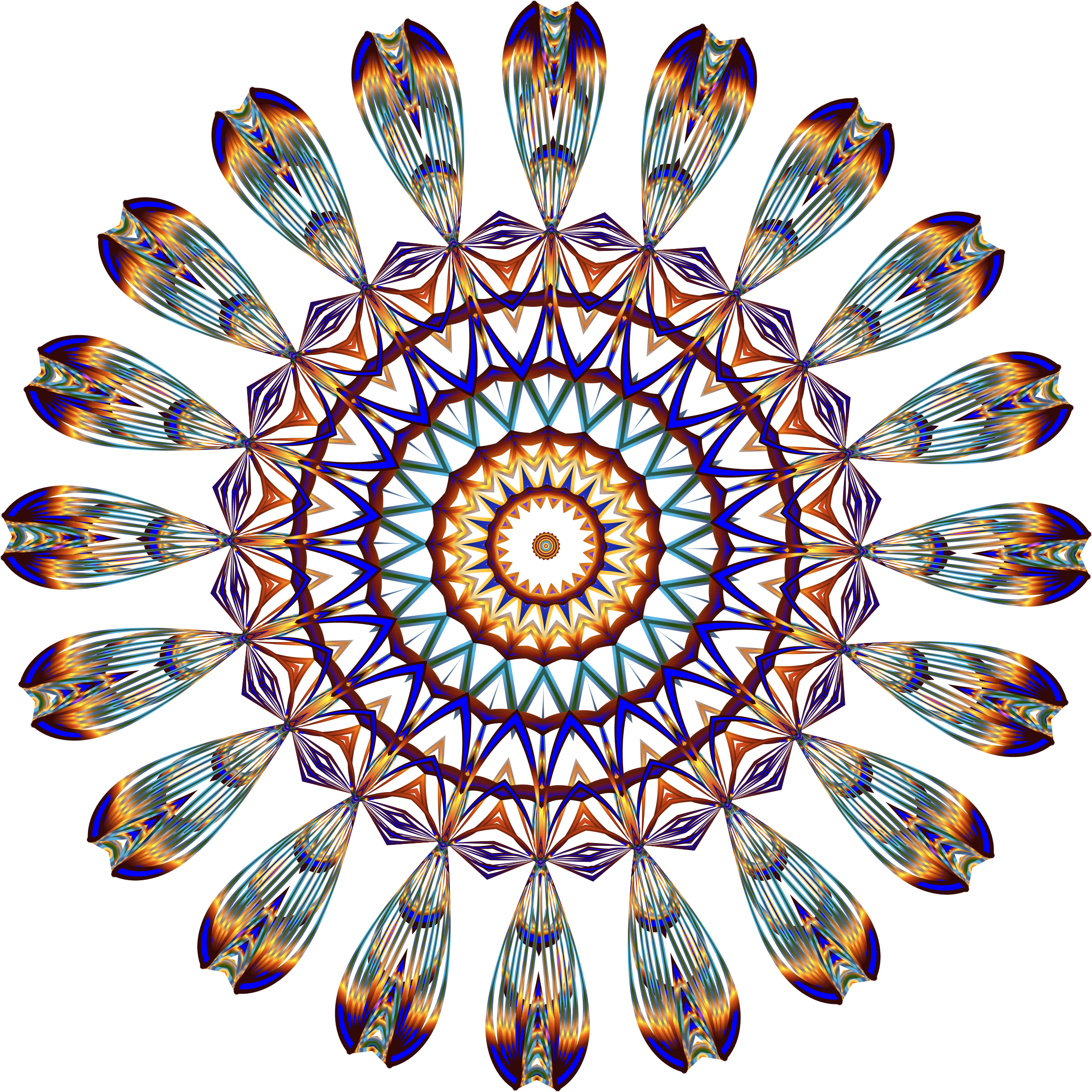 Prismatic Mandala Line Art 3 No Background by GDJ