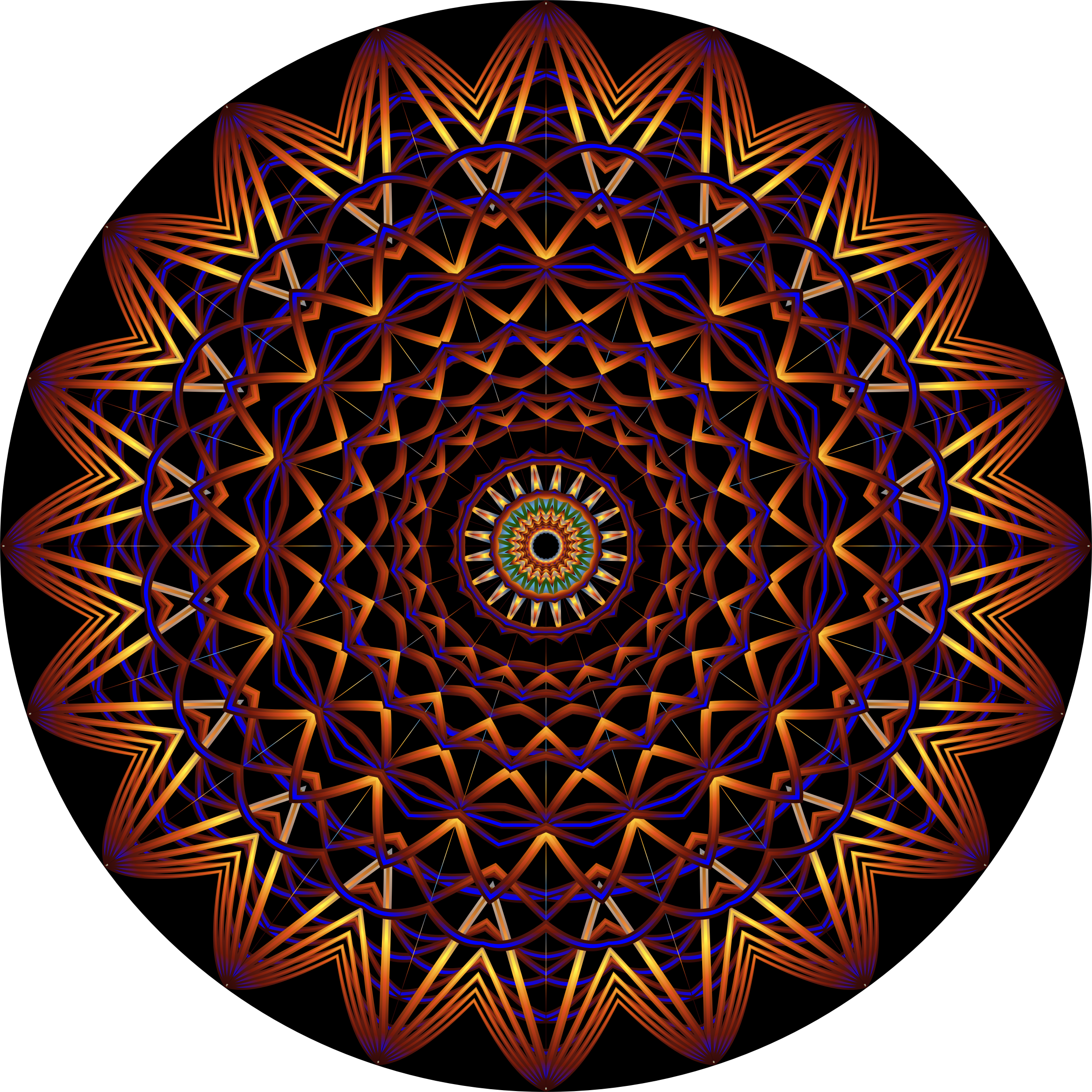 Prismatic Mandala Line Art 5 by GDJ