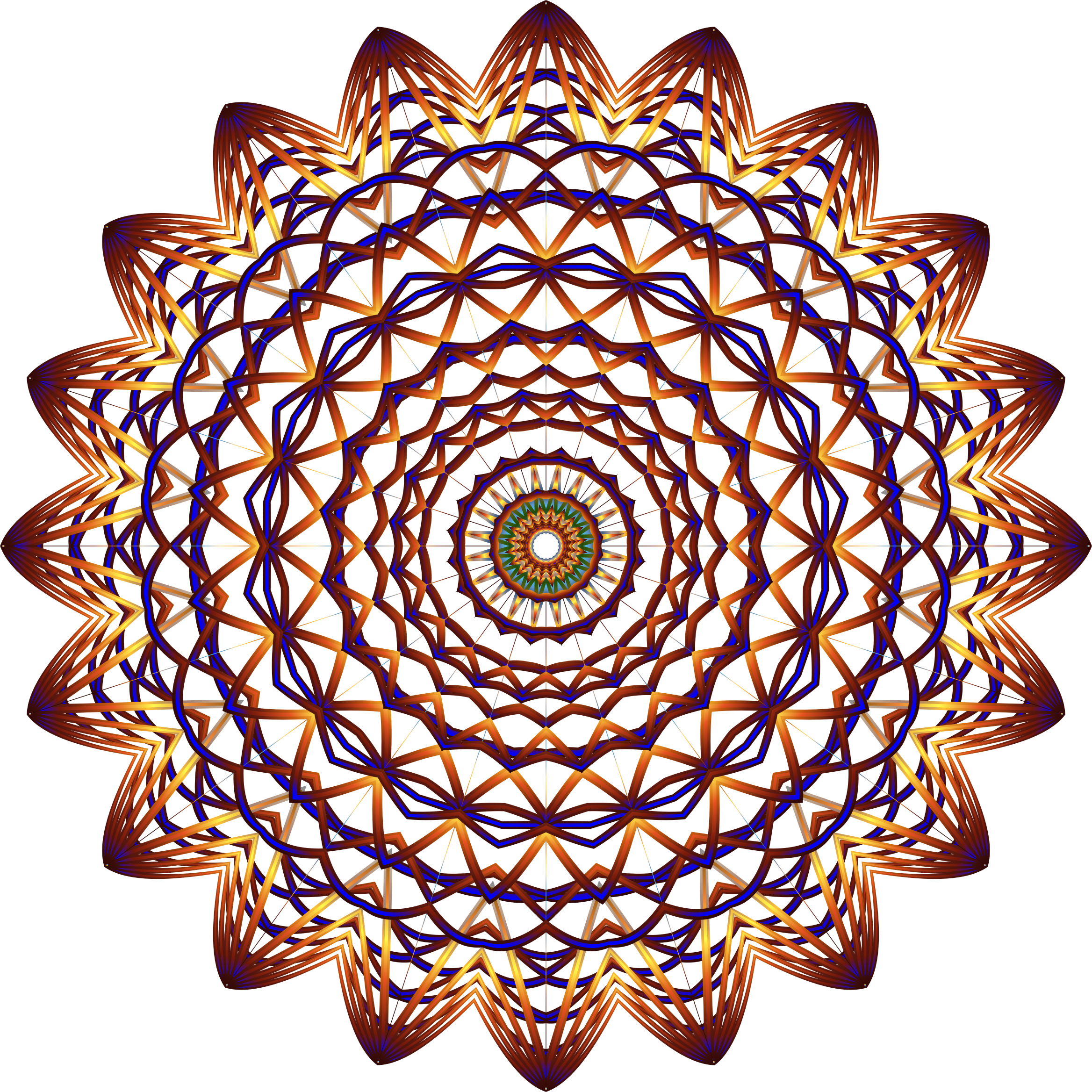 Prismatic Mandala Line Art 5 No Background by GDJ