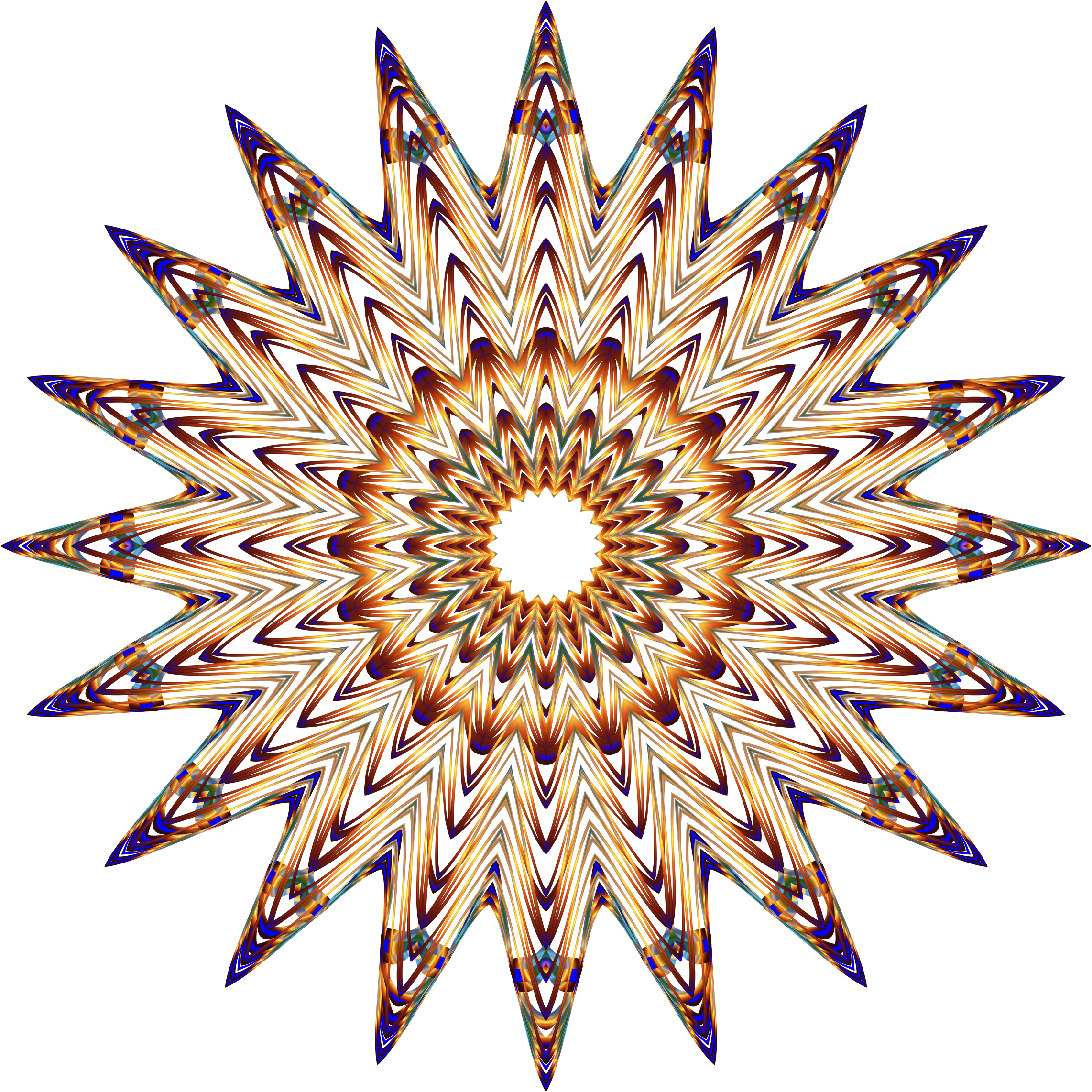Prismatic Mandala Line Art 6 No Background by GDJ