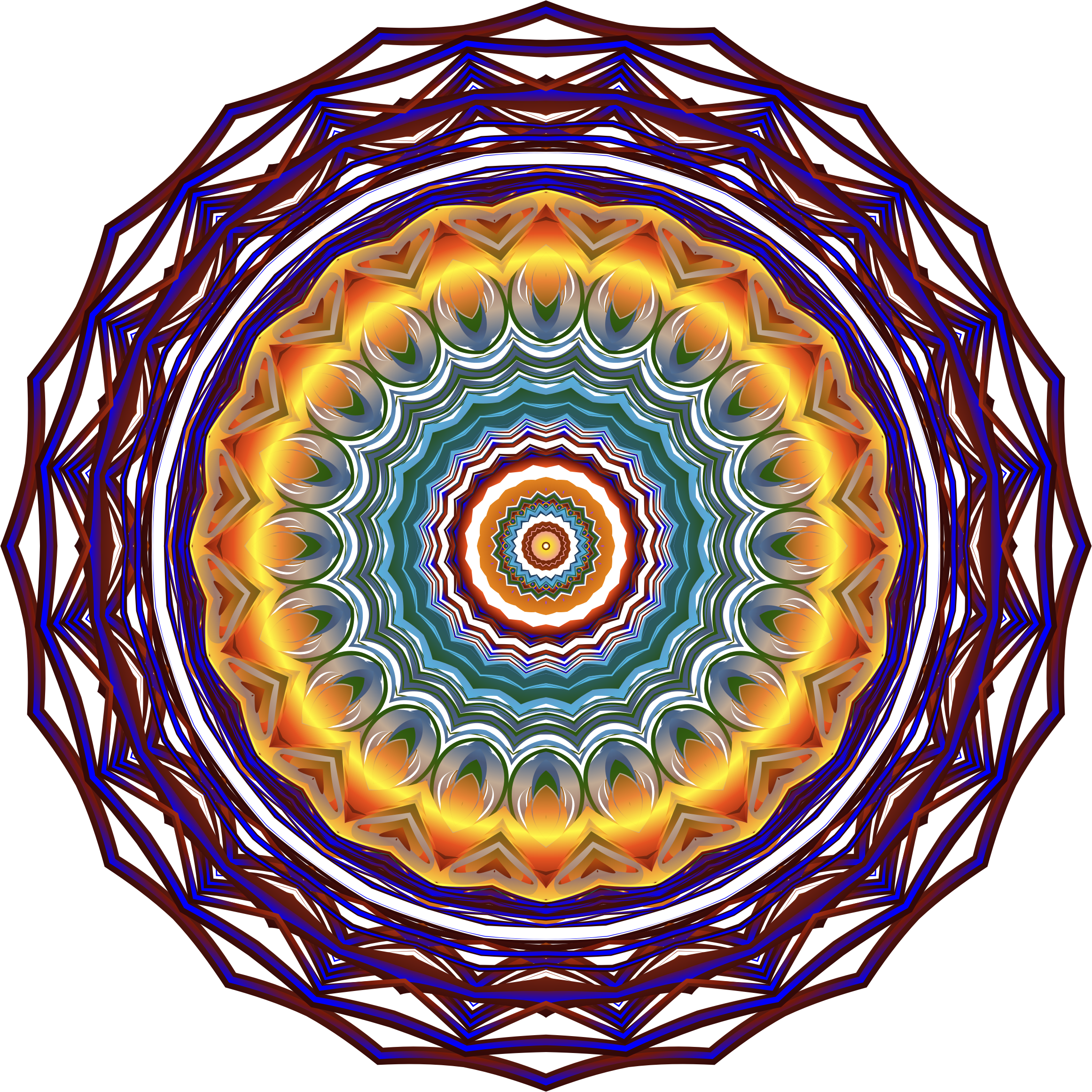 Prismatic Mandala Line Art 7 No Background by GDJ