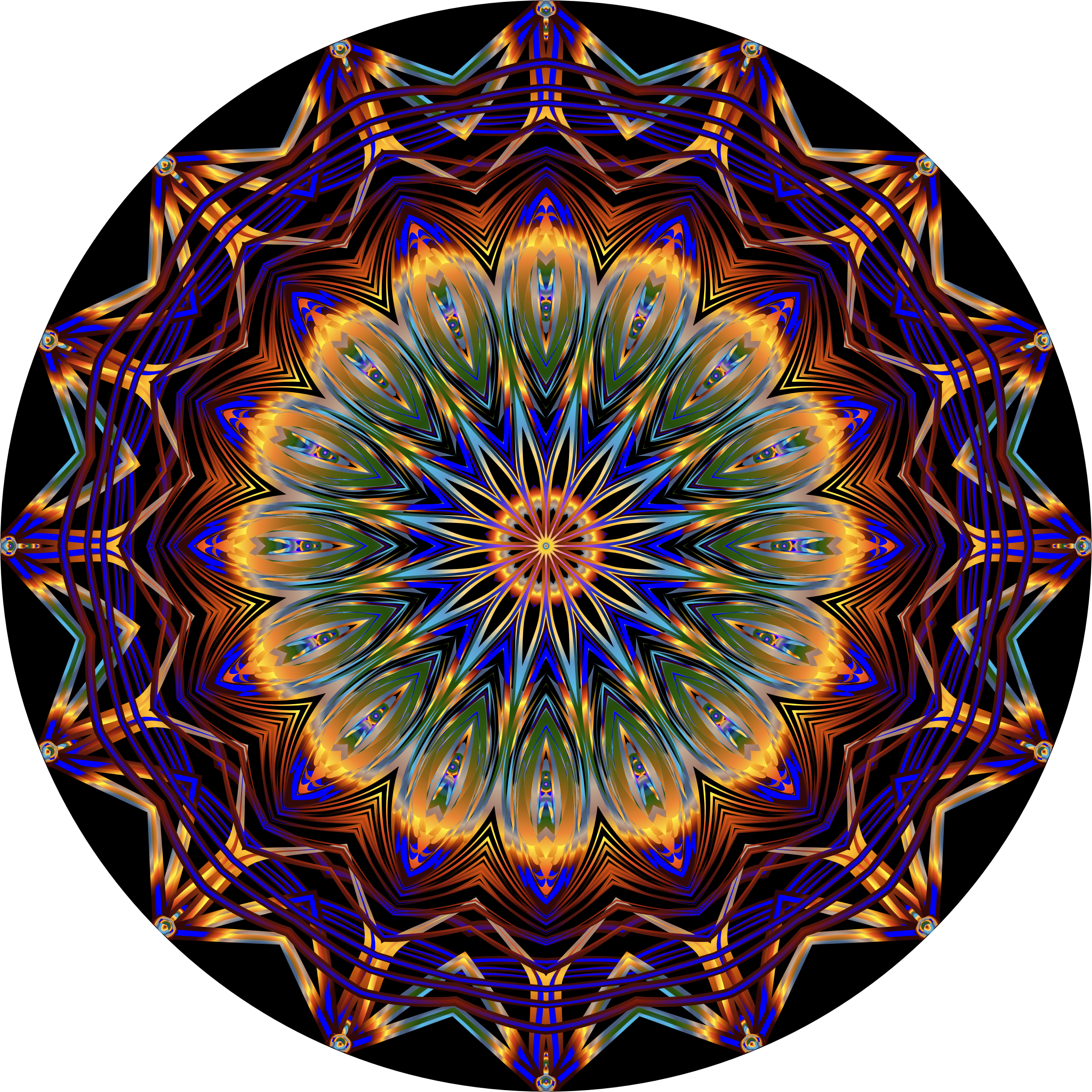 Prismatic Mandala Line Art 8 by GDJ