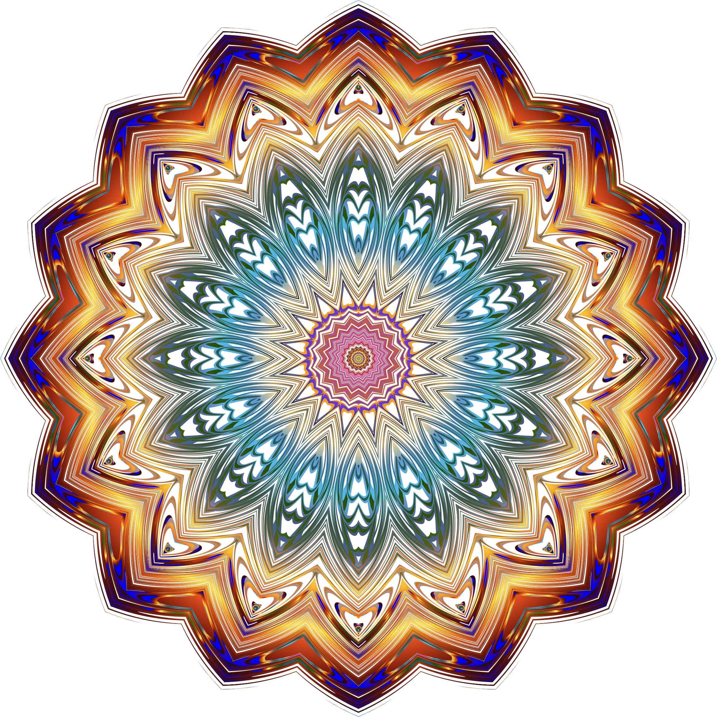 Prismatic Mandala Line Art 10 No Background by GDJ