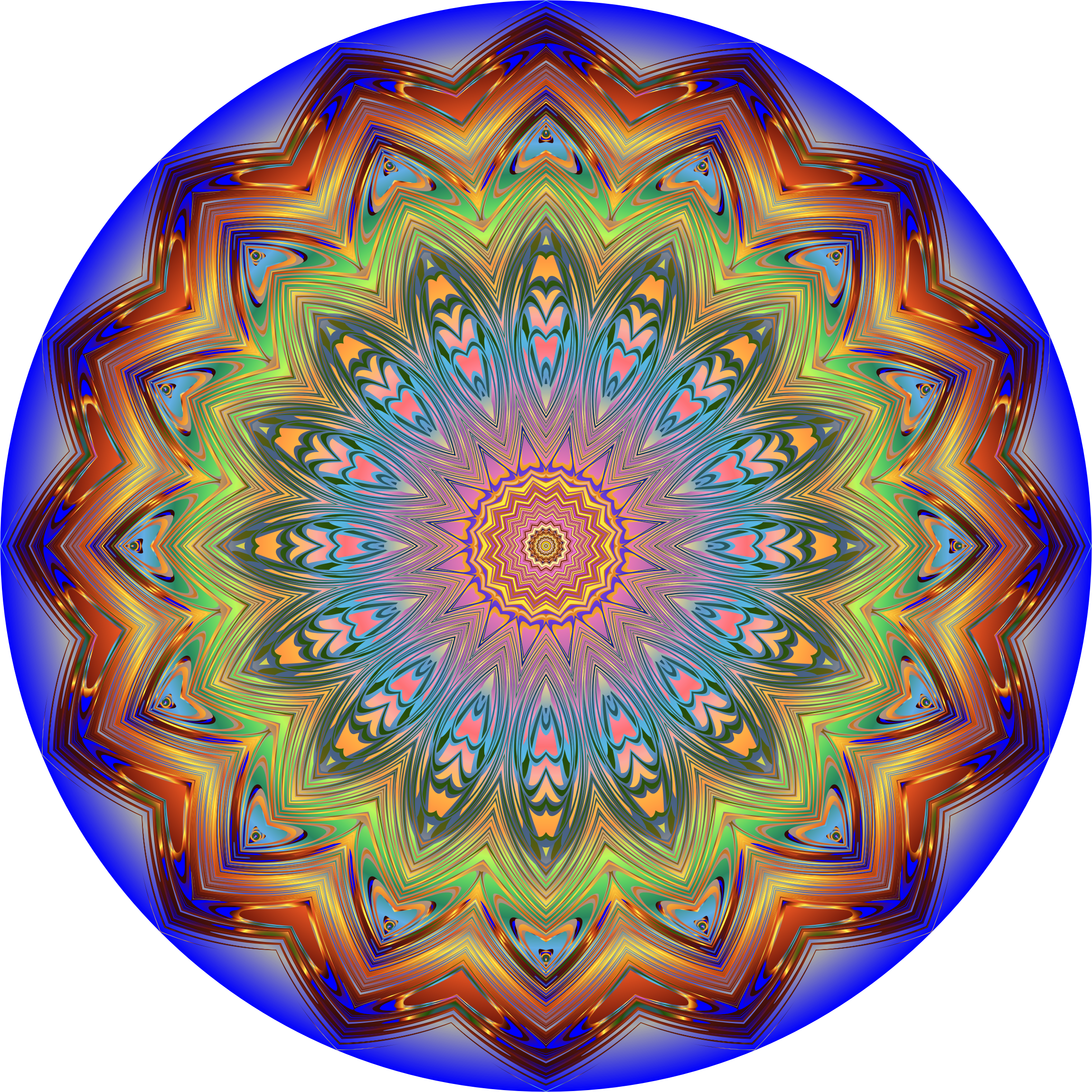 Prismatic Mandala Line Art 10 Variation 2 by GDJ