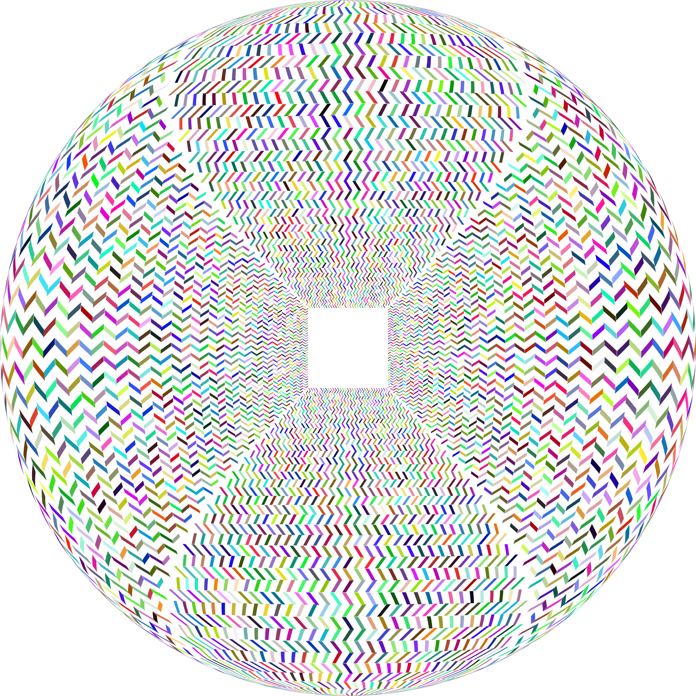 Prismatic Optical Illusion Orb No Background by GDJ