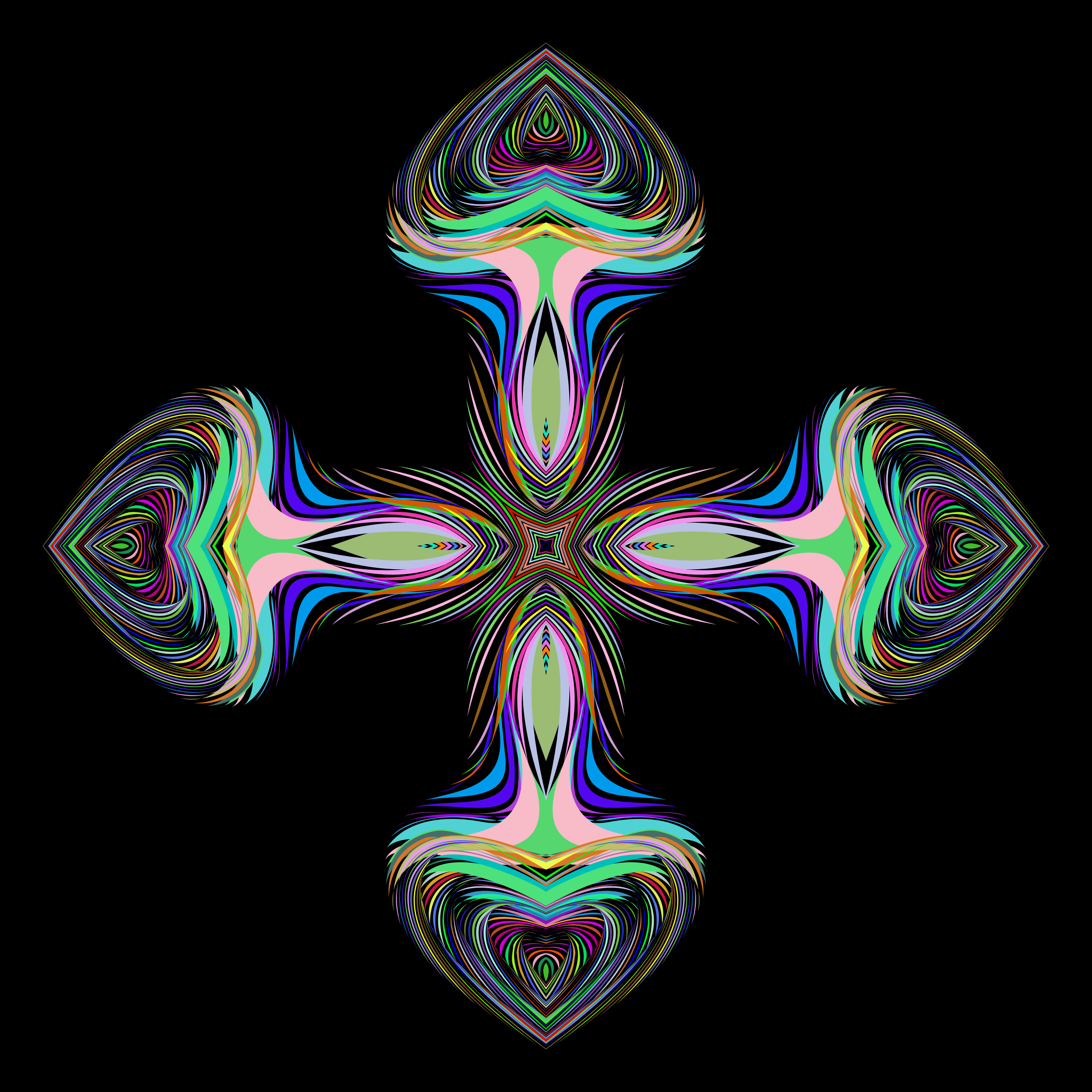 Prismatic Hearts Cross by GDJ