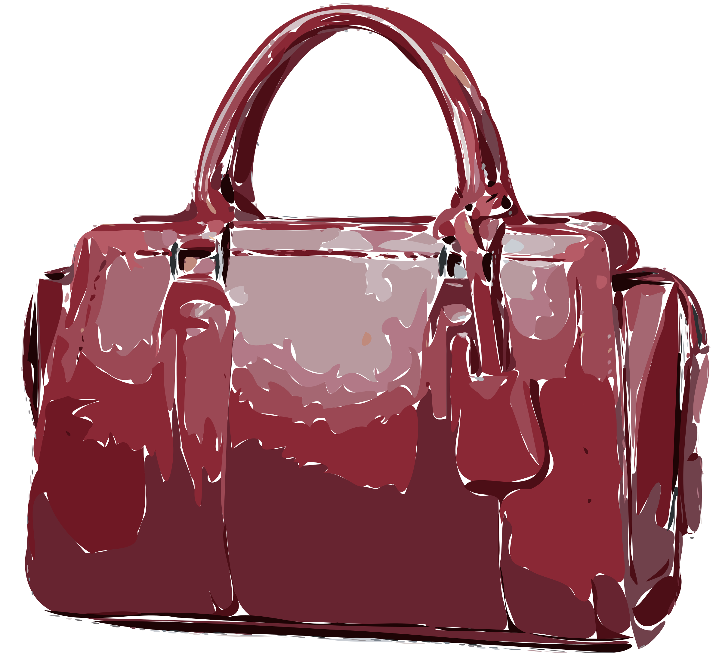 Red Leather Handbag by rejon