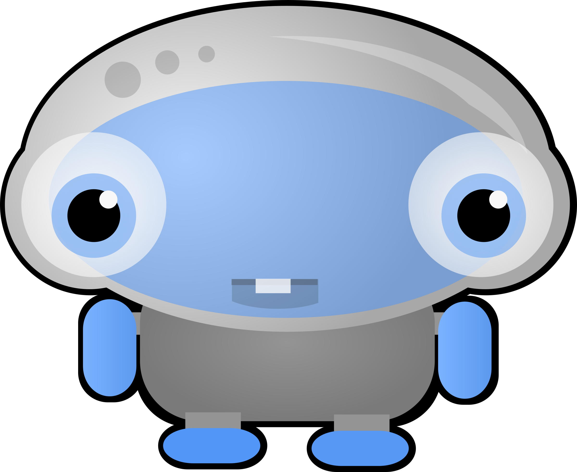 Strange blue robot creature by Magnesus