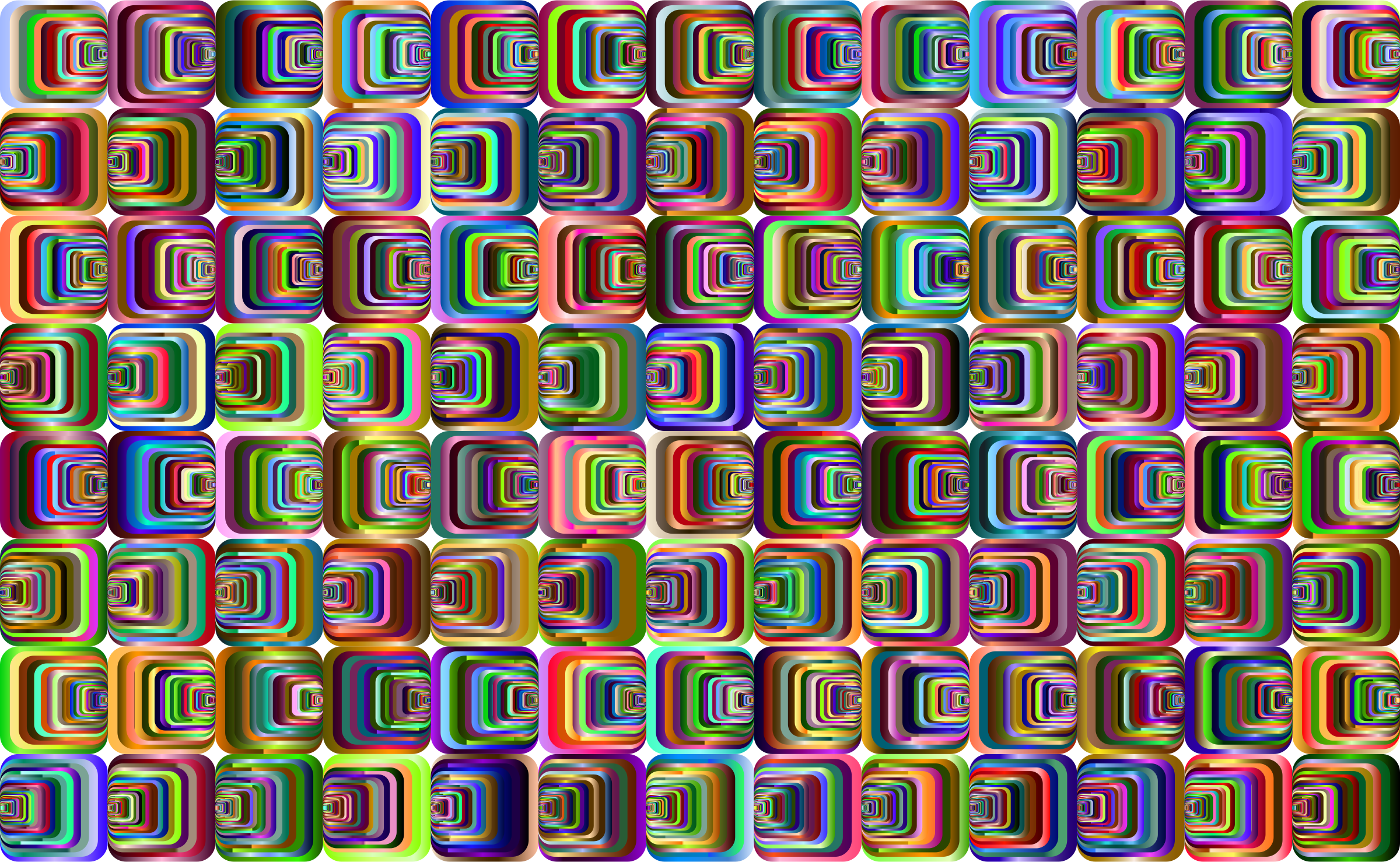 Prismatic Perspective Illusion 2 Pattern 3 by GDJ