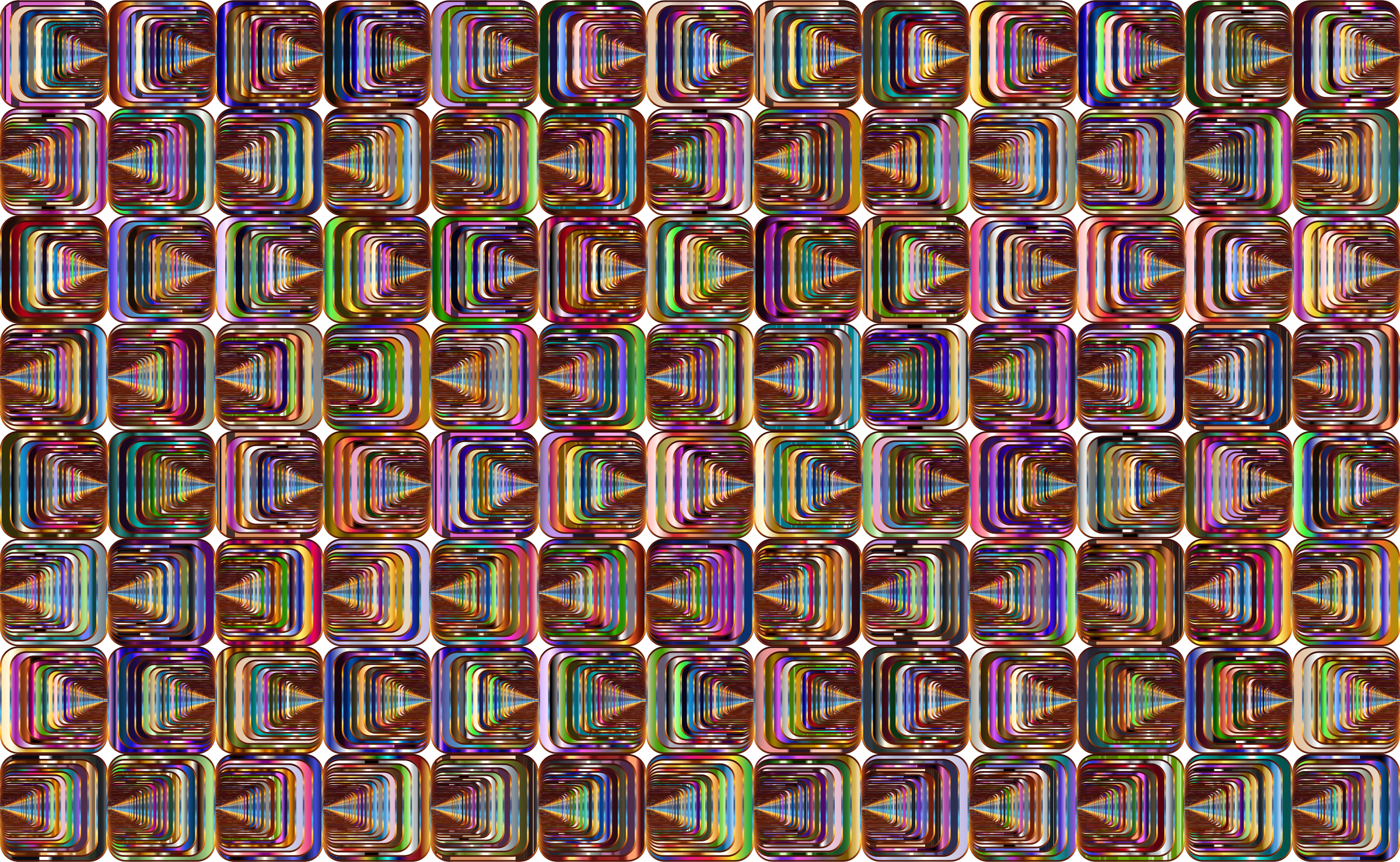 Prismatic Perspective Illusion 2 Pattern 4 Variation 3 by GDJ