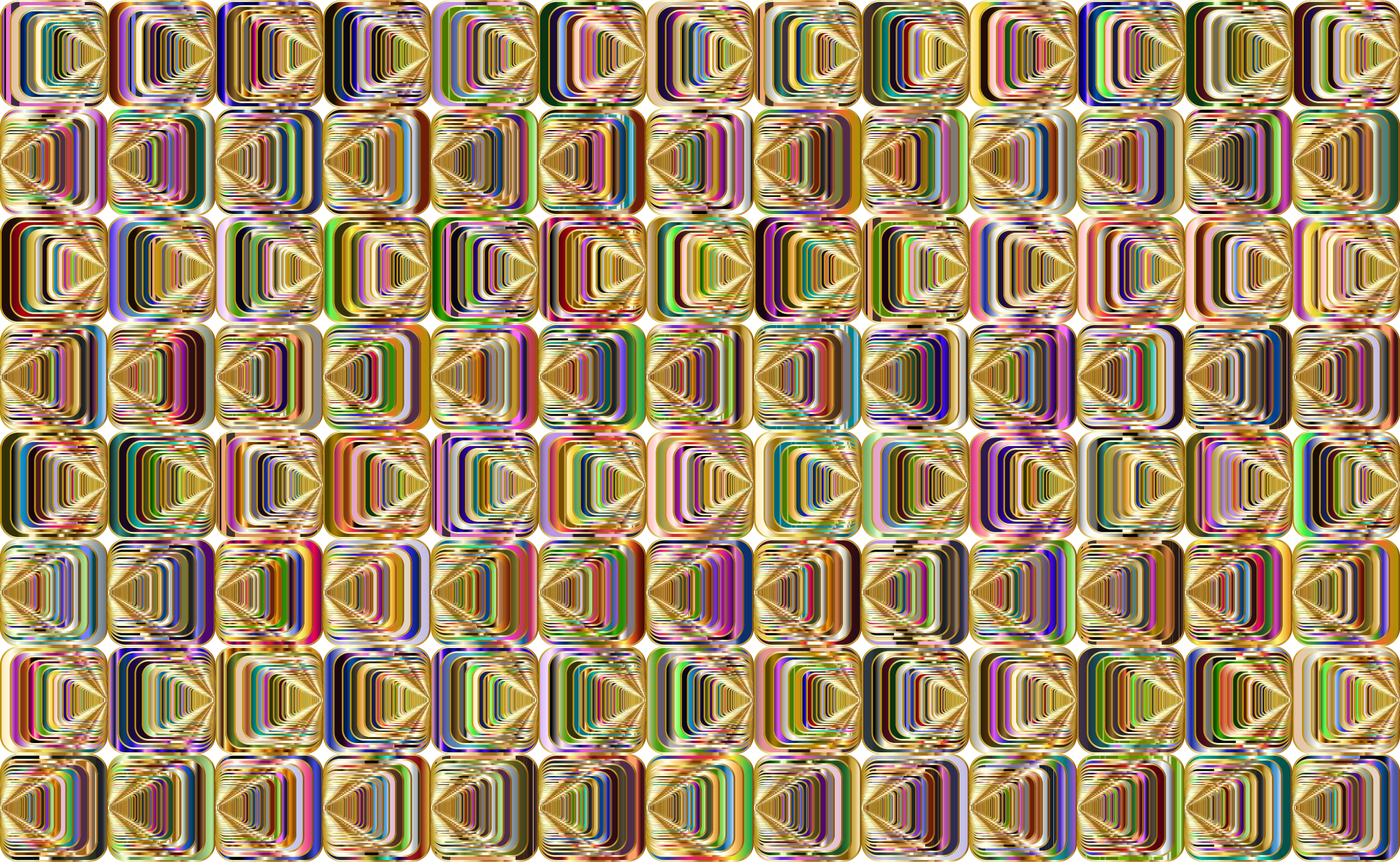 Prismatic Perspective Illusion 2 Pattern 4 Variation 4 by GDJ