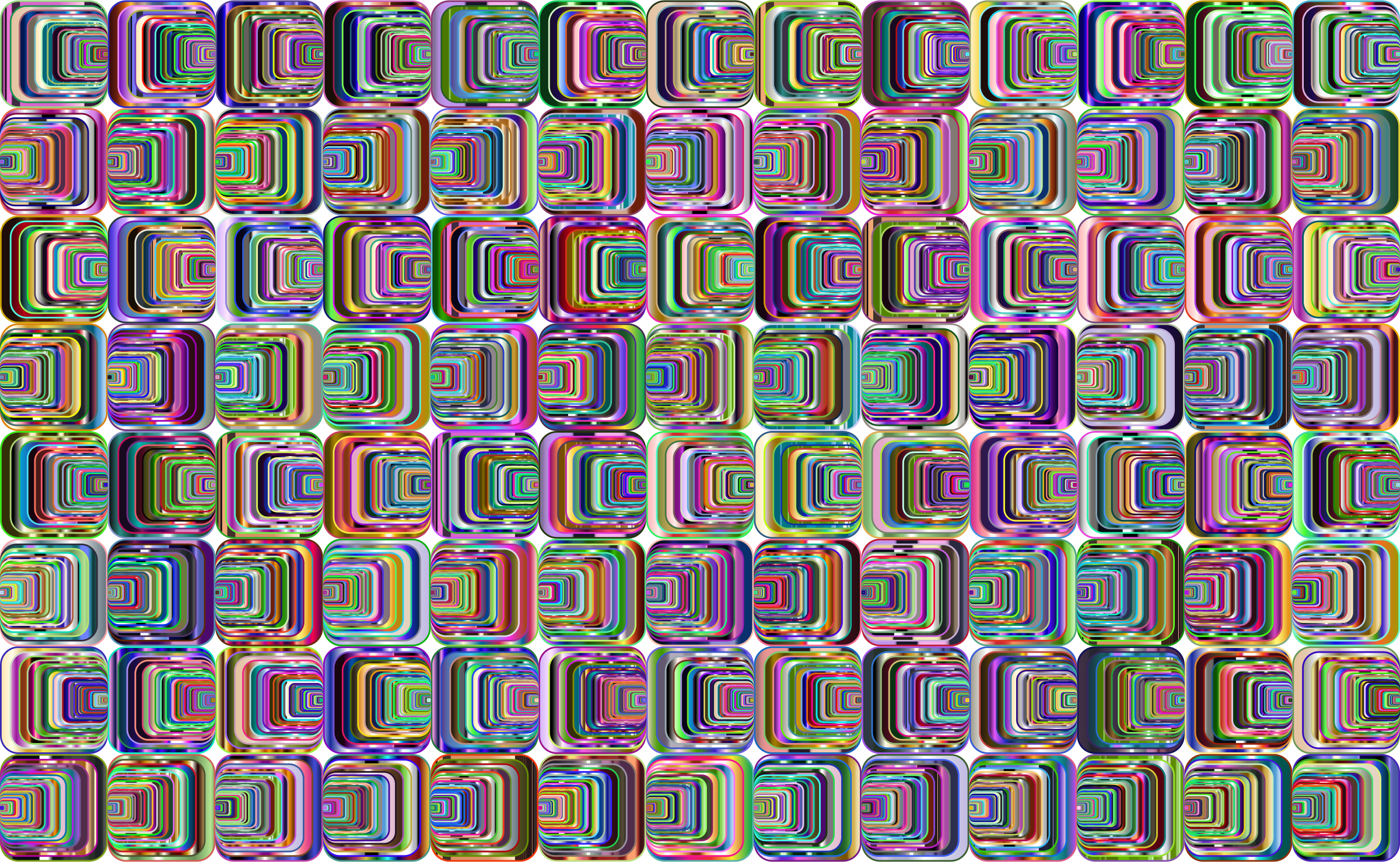 Prismatic Perspective Illusion 2 Pattern 4 Variation 5 by GDJ