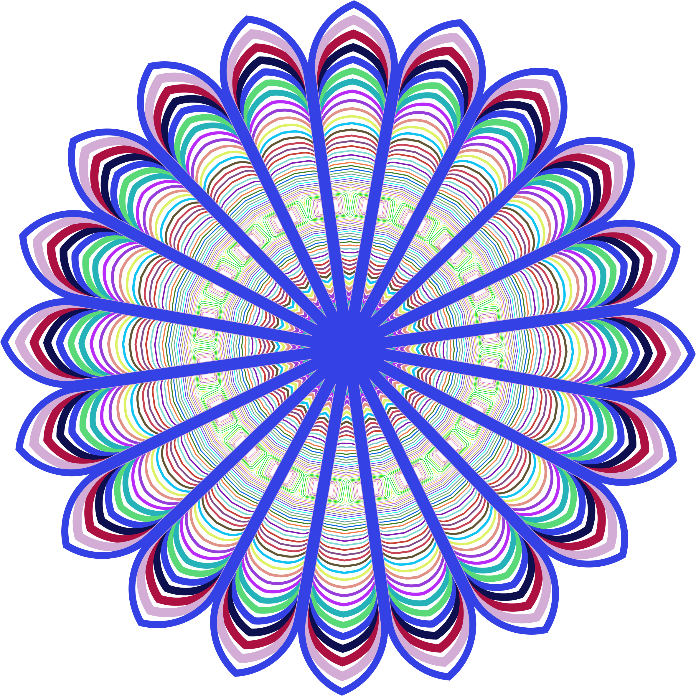 Line Design Art : Clipart prismatic mandala line art design
