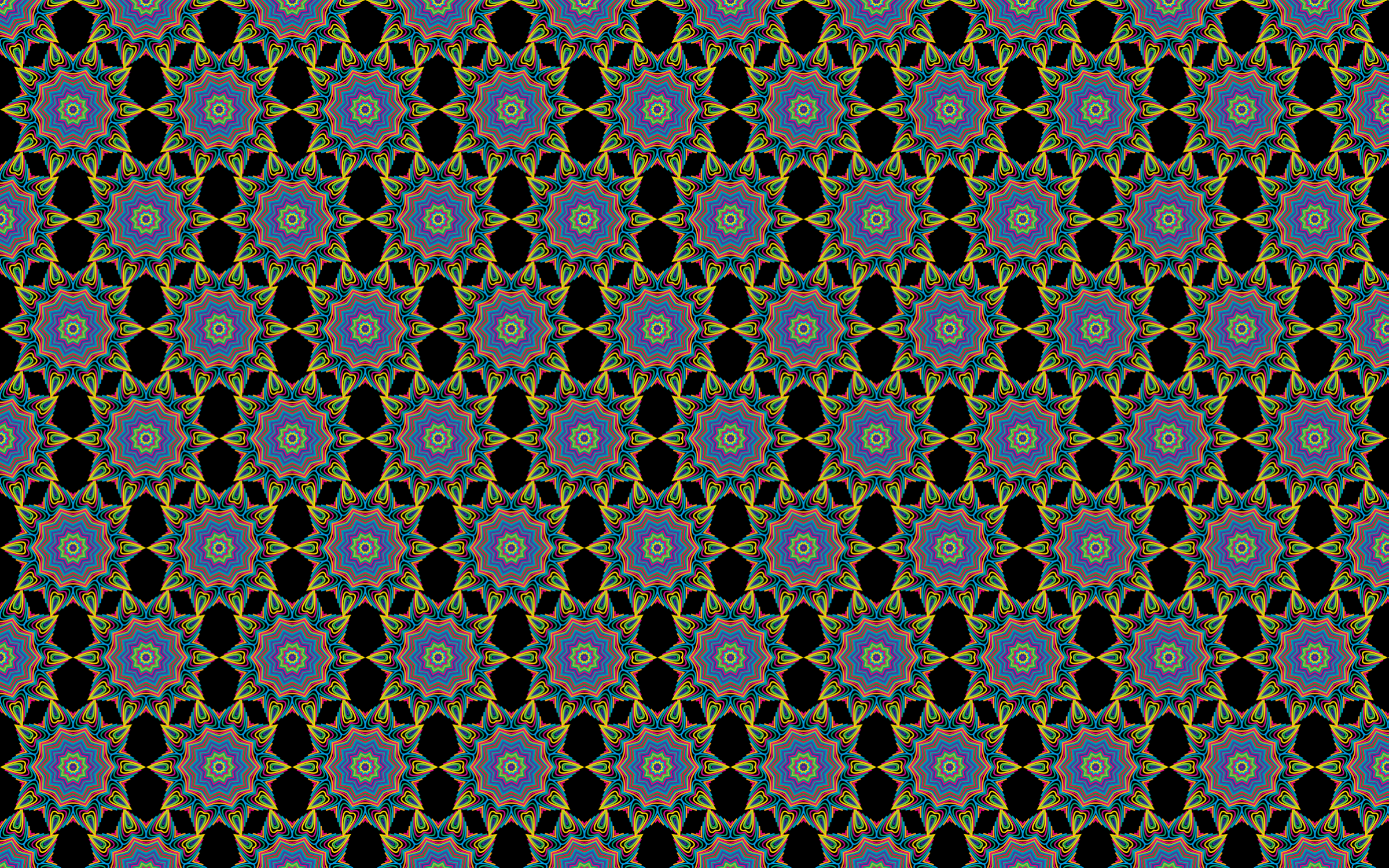 Seamless Prismatic Waves Pattern With Background by GDJ